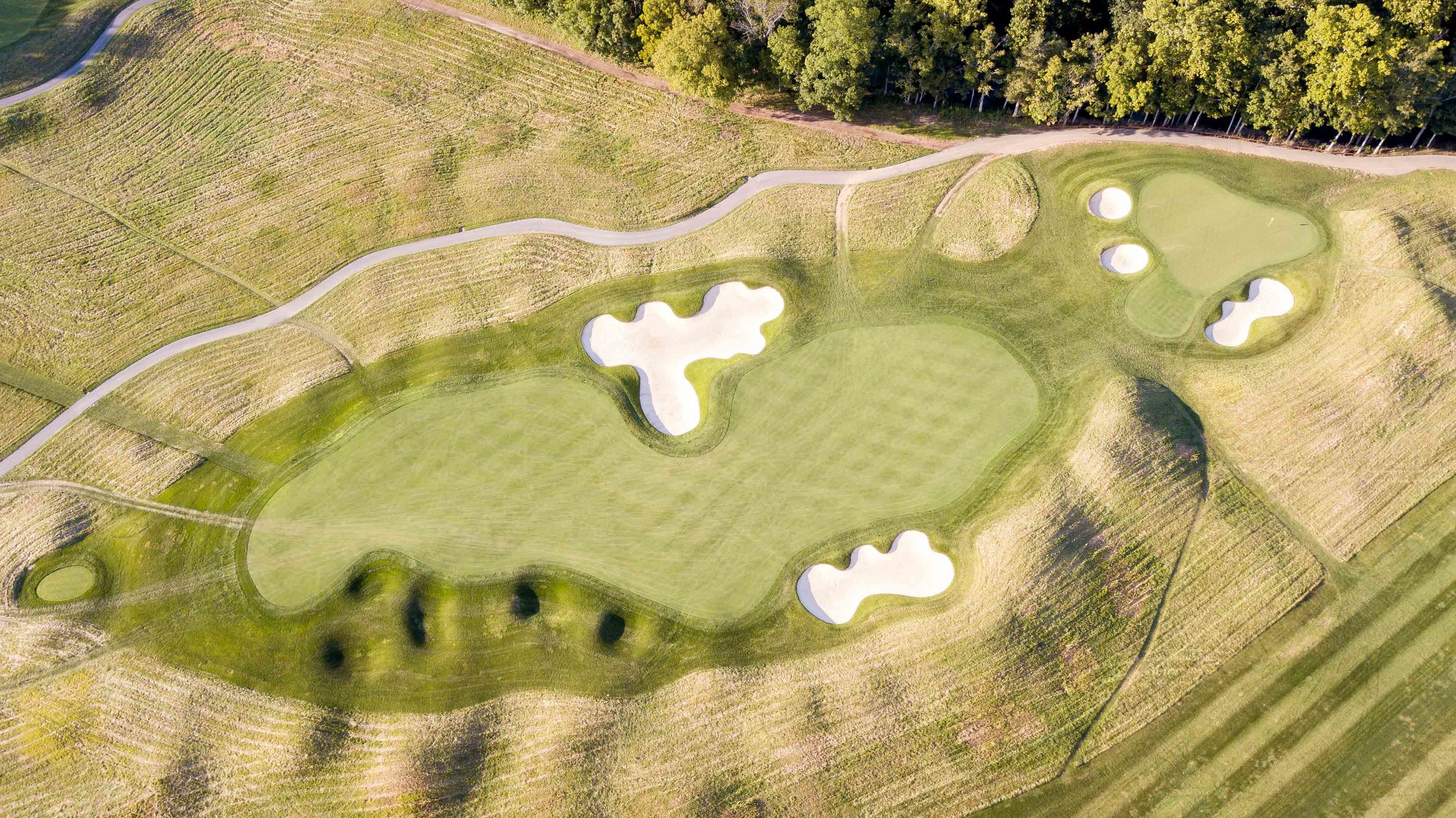 The potentially drive-able 4th hole at Valhalla