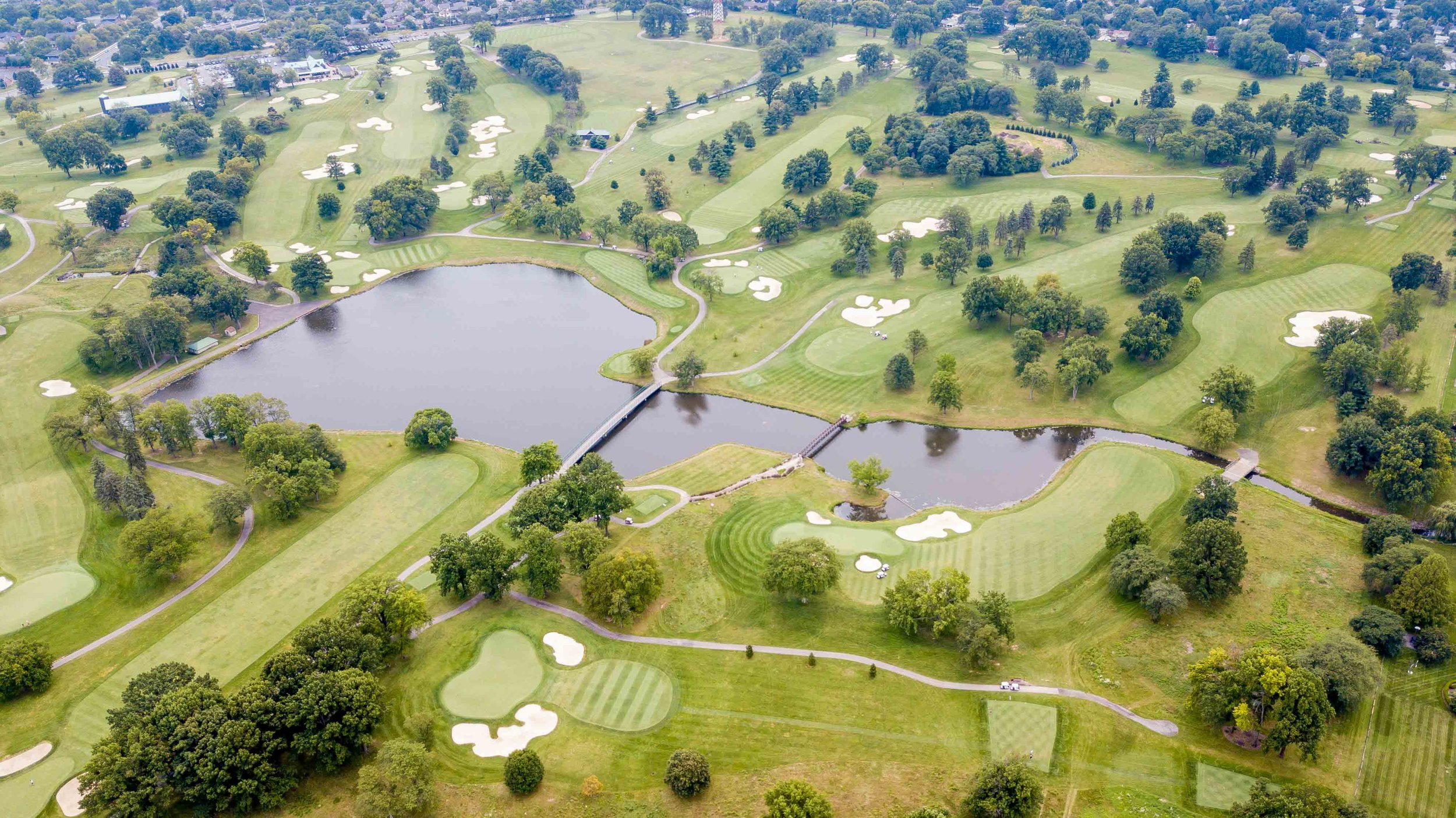 The view from above the Scarlet and Gray courses at Ohio State University
