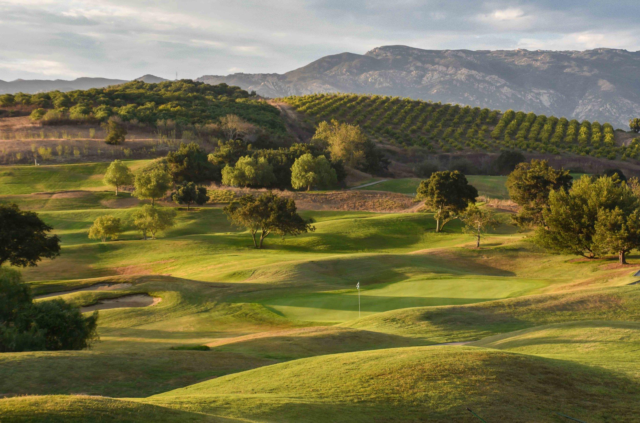 The sun sets on an excellent Goleta weekend over  Glen Annie Golf Club
