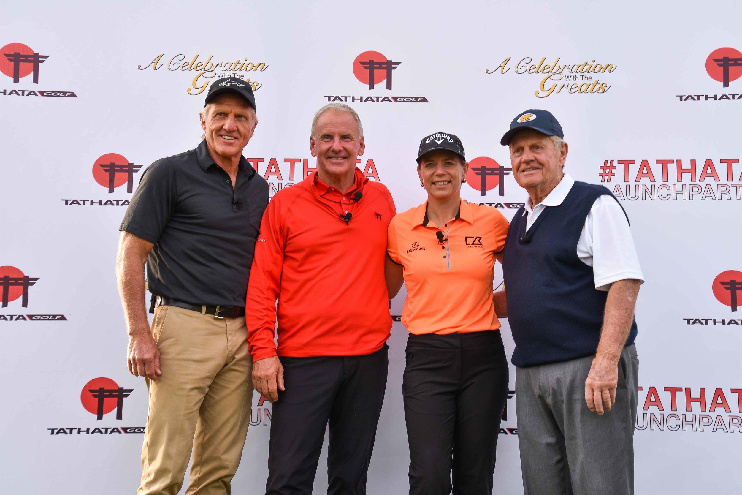 Greg, Annika, and Jack pose along side Bryan of Tathata Golf.