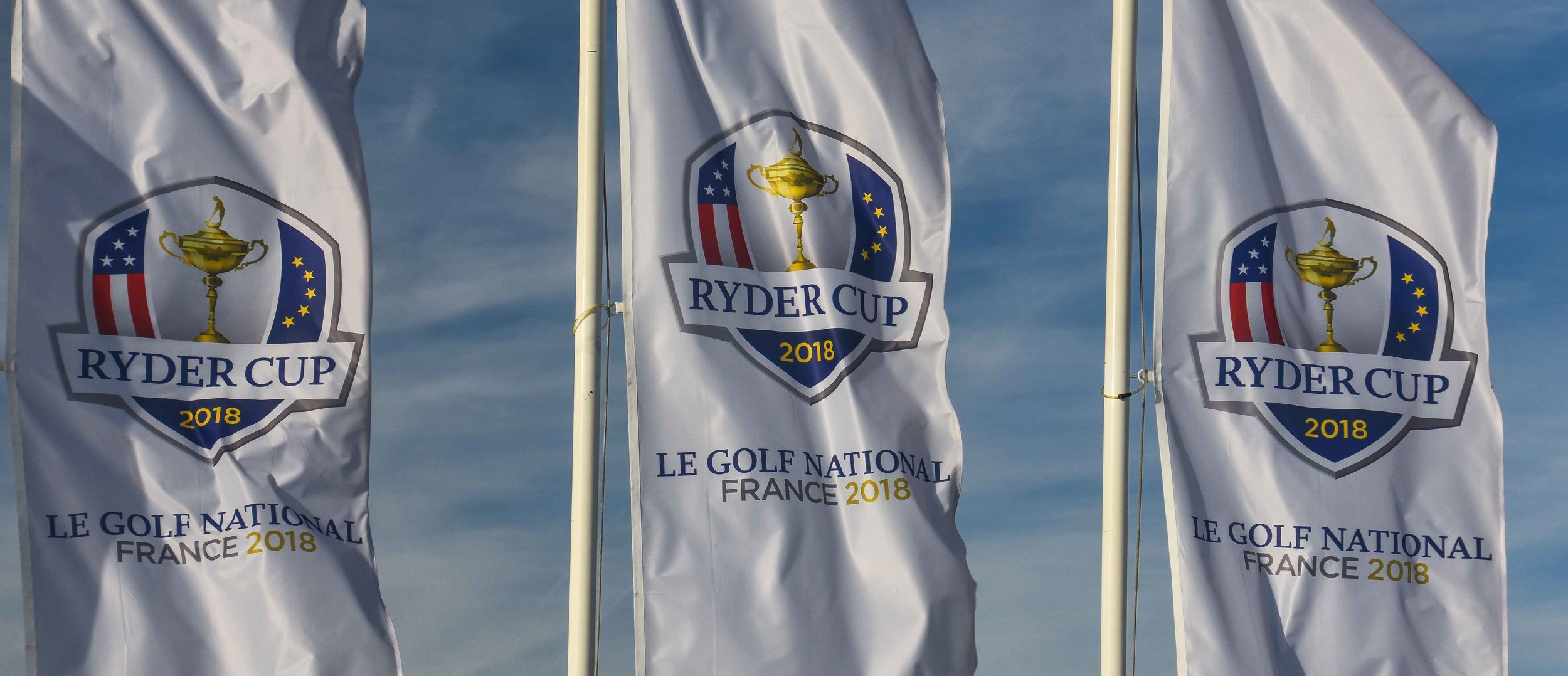 They have the flags up and the carts fully charged.  Le Golf National is Ryder Cup ready.