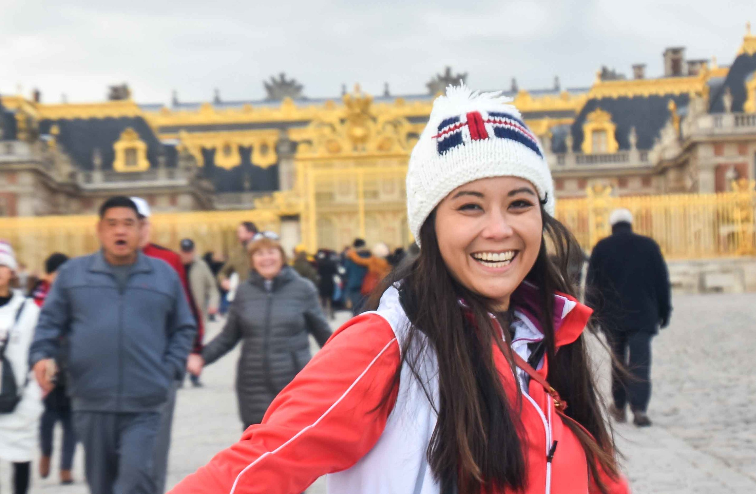 Stephanie Wei  is happy to be in Versailles.