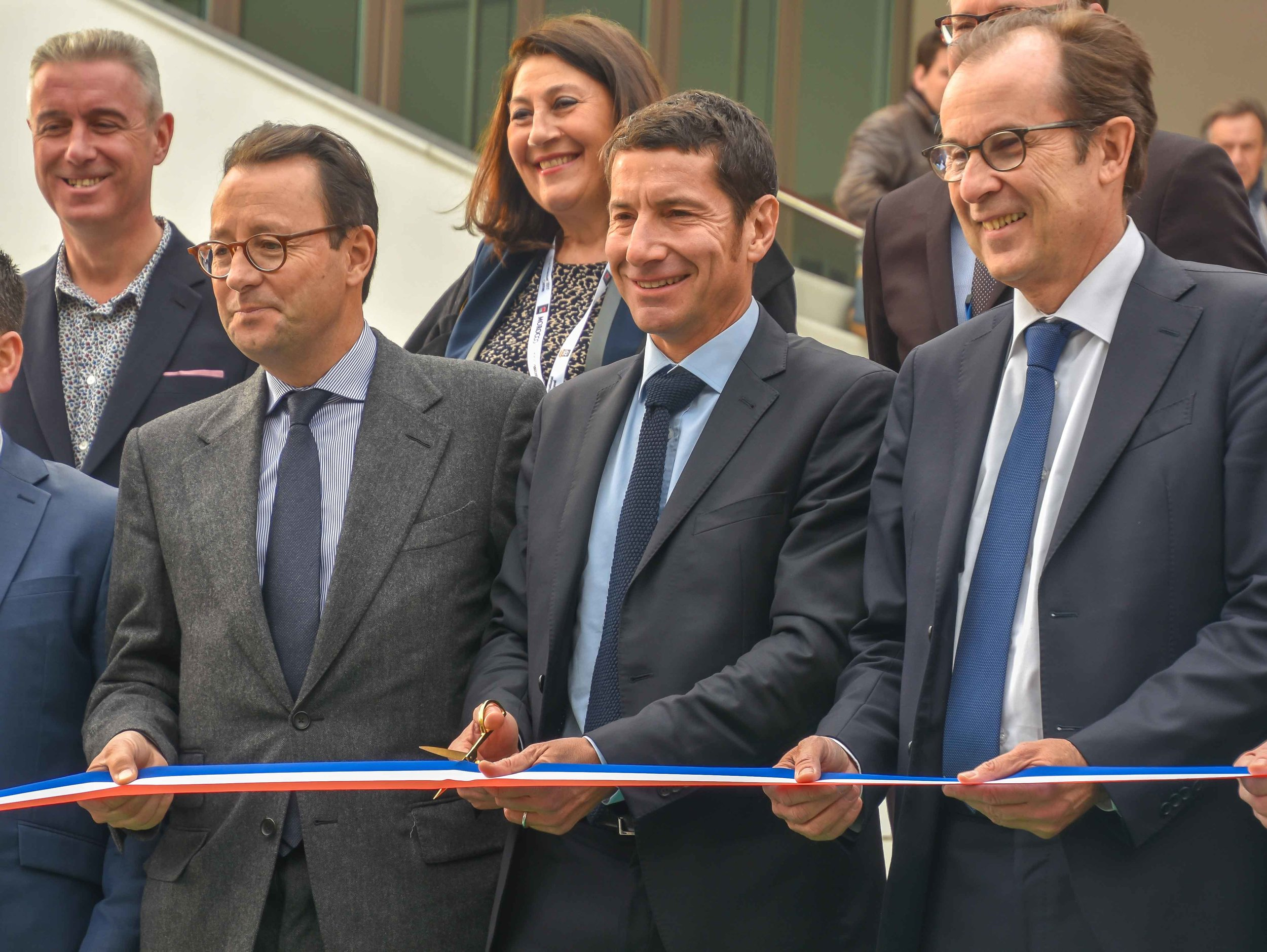 The Mayor of Cannes,David Lisnard,kicks things off with a ribbon cutting.