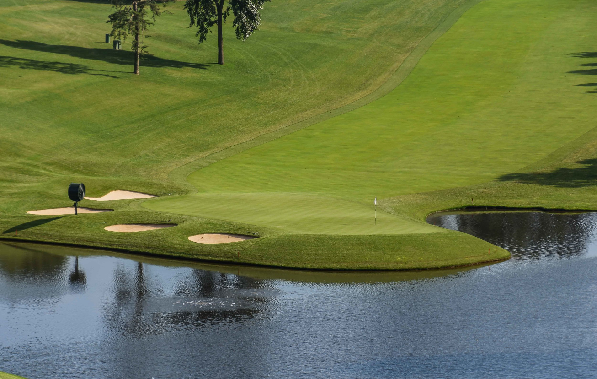 The iconic 18th hole at Congressional