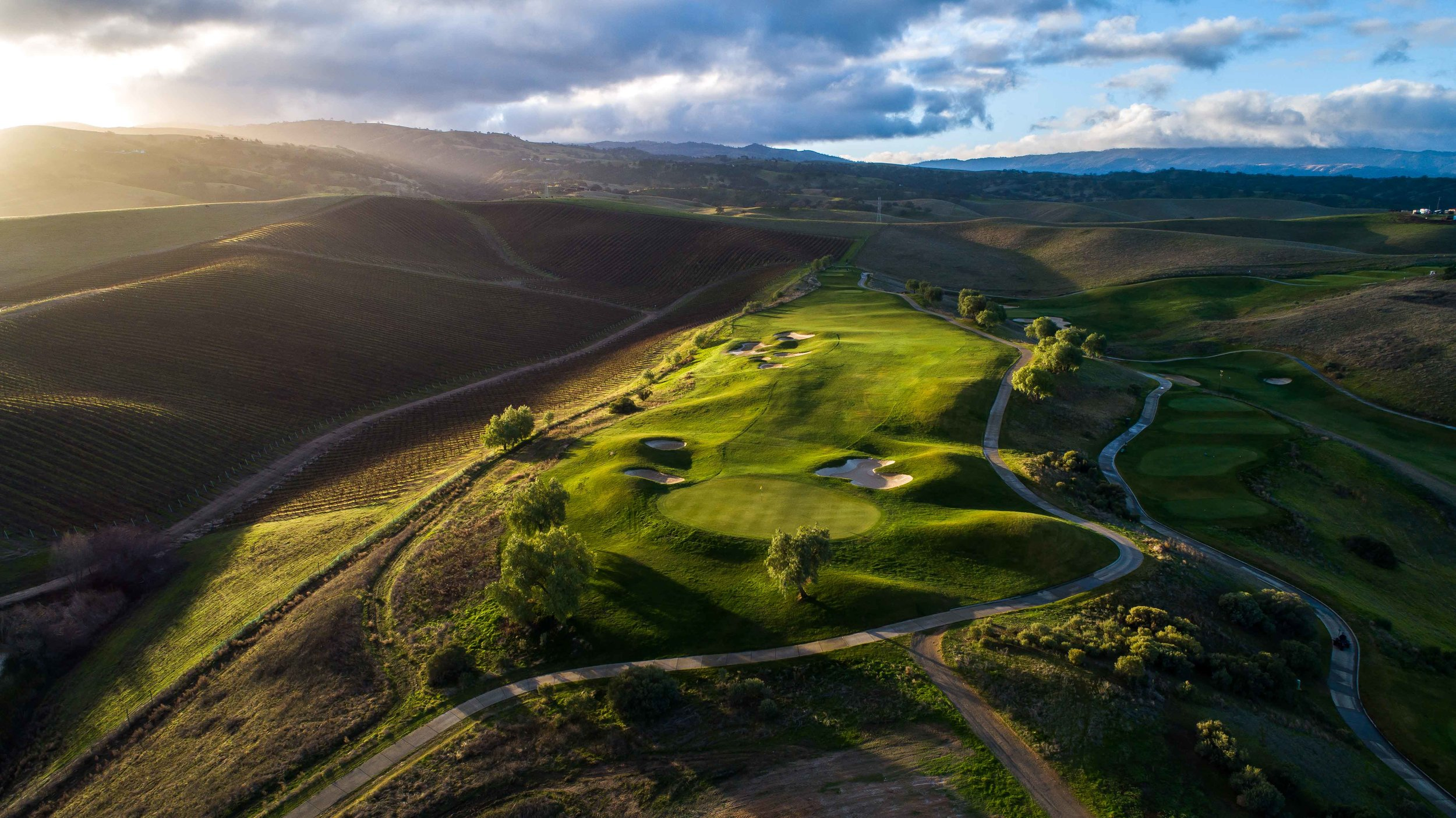The 4th hole on Poppy Ridge's Chardonnay nine.