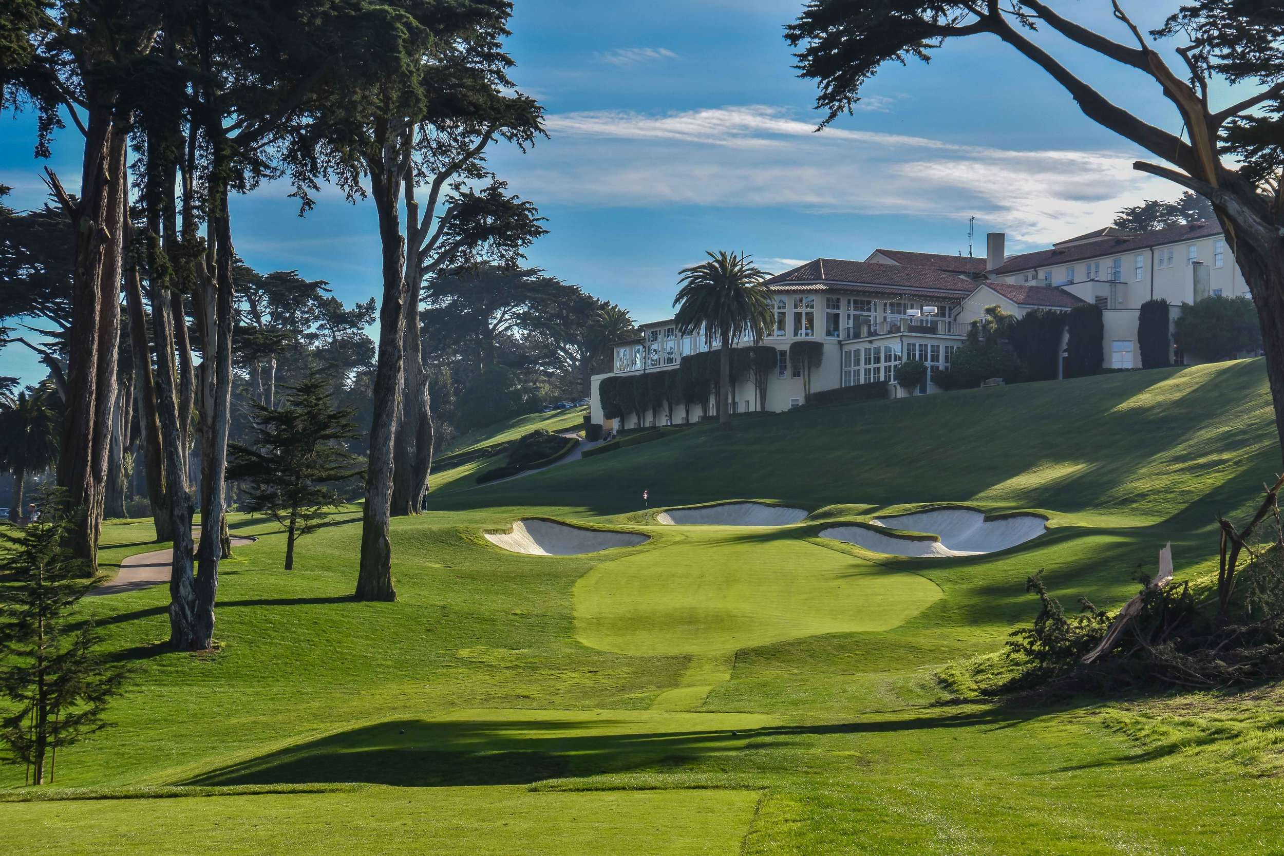 The par 3 8th hole at Olympic Club