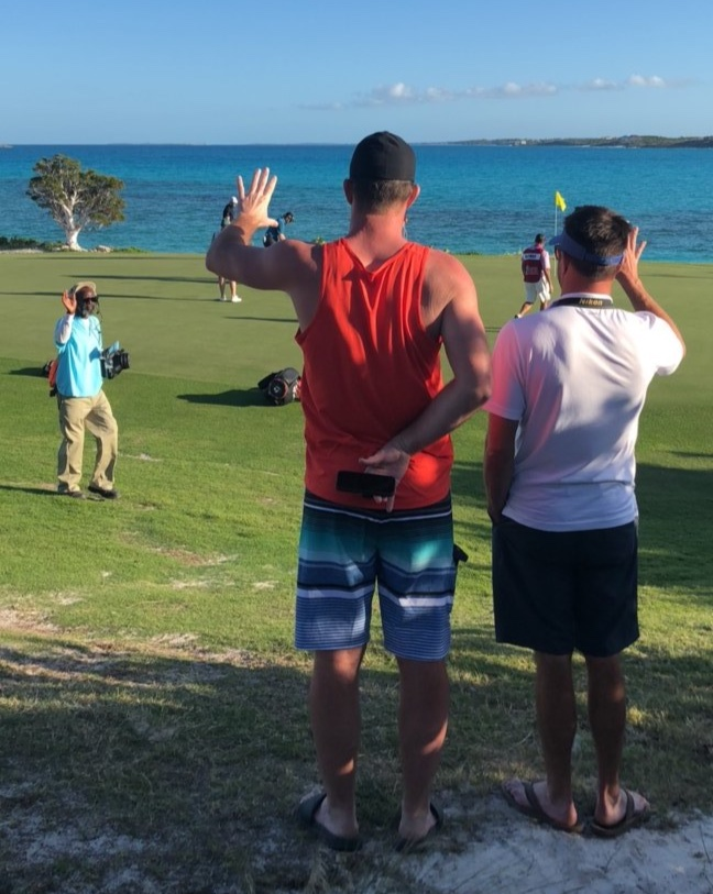 The tournament does a great job of employing the local Bahamians. Brodie and I salute their work.