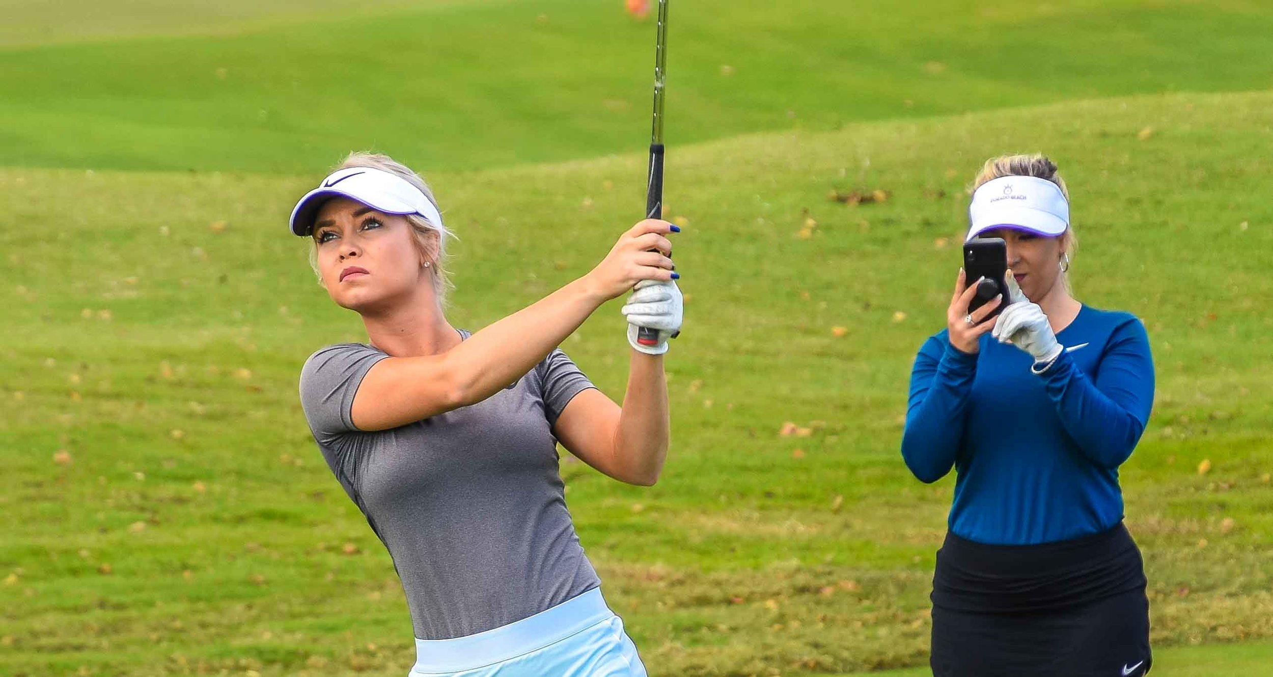 Just about every swing was documented by this duo of powerful Instagram influencers.