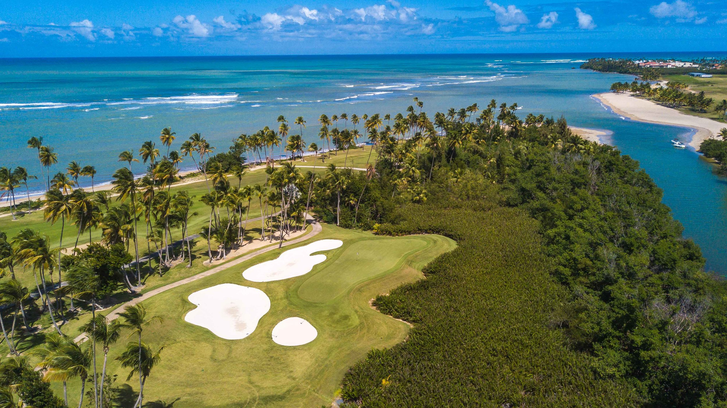 The pivotal 15th hole at Bahia Beach.