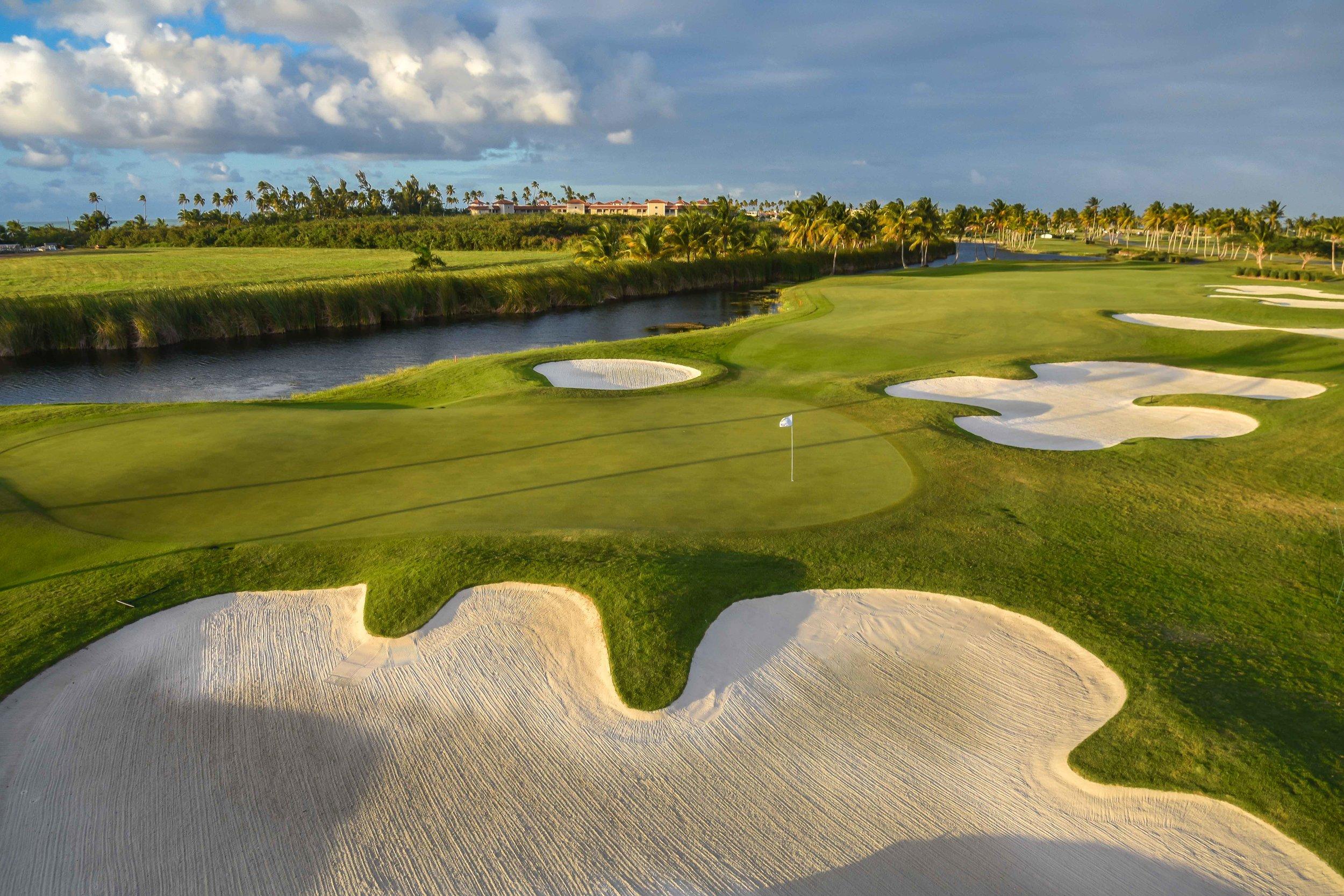 The 17th hole at Coco Beach Golf & Country Club
