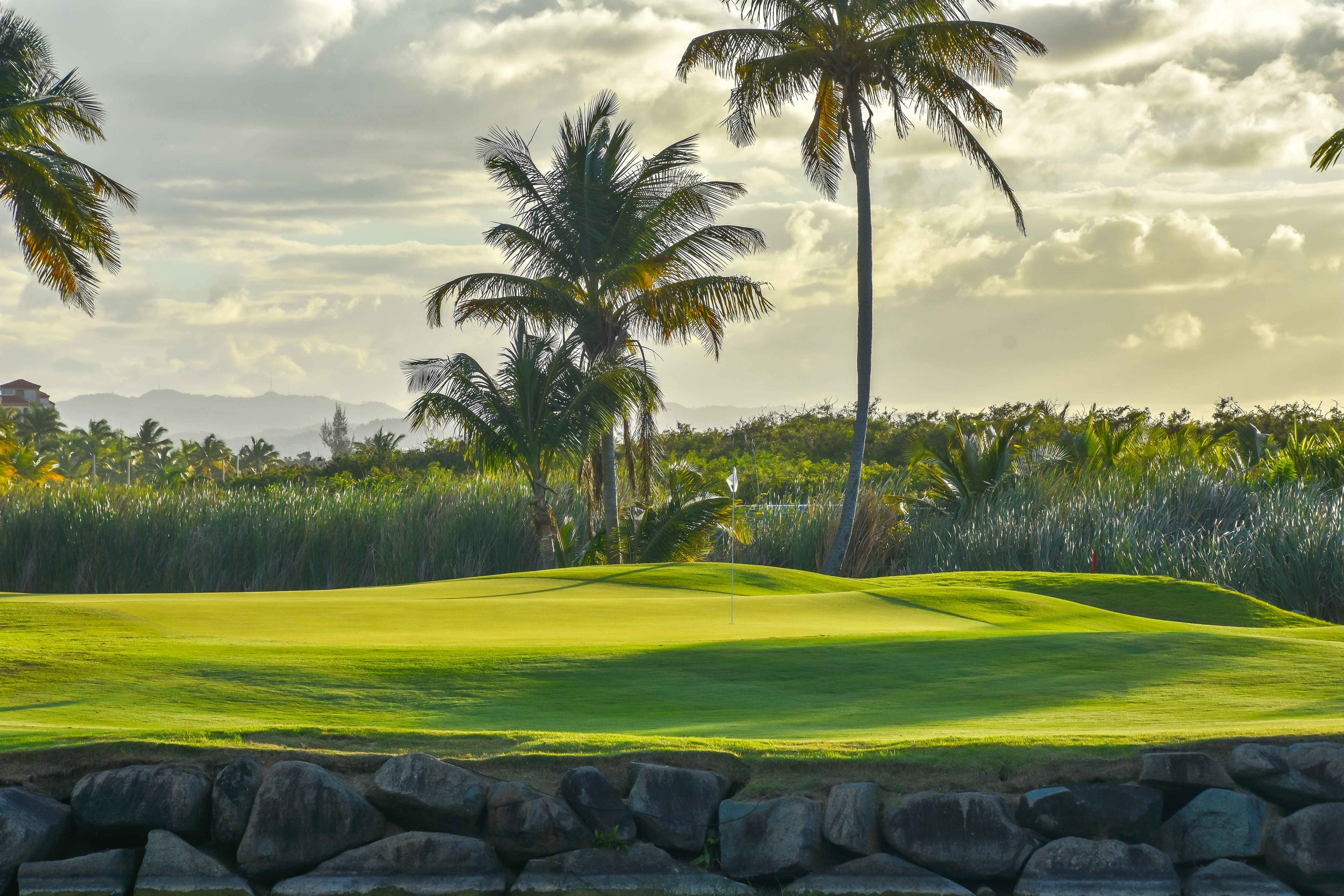 The 16th hole at the 2018 Puerto Rico Open.