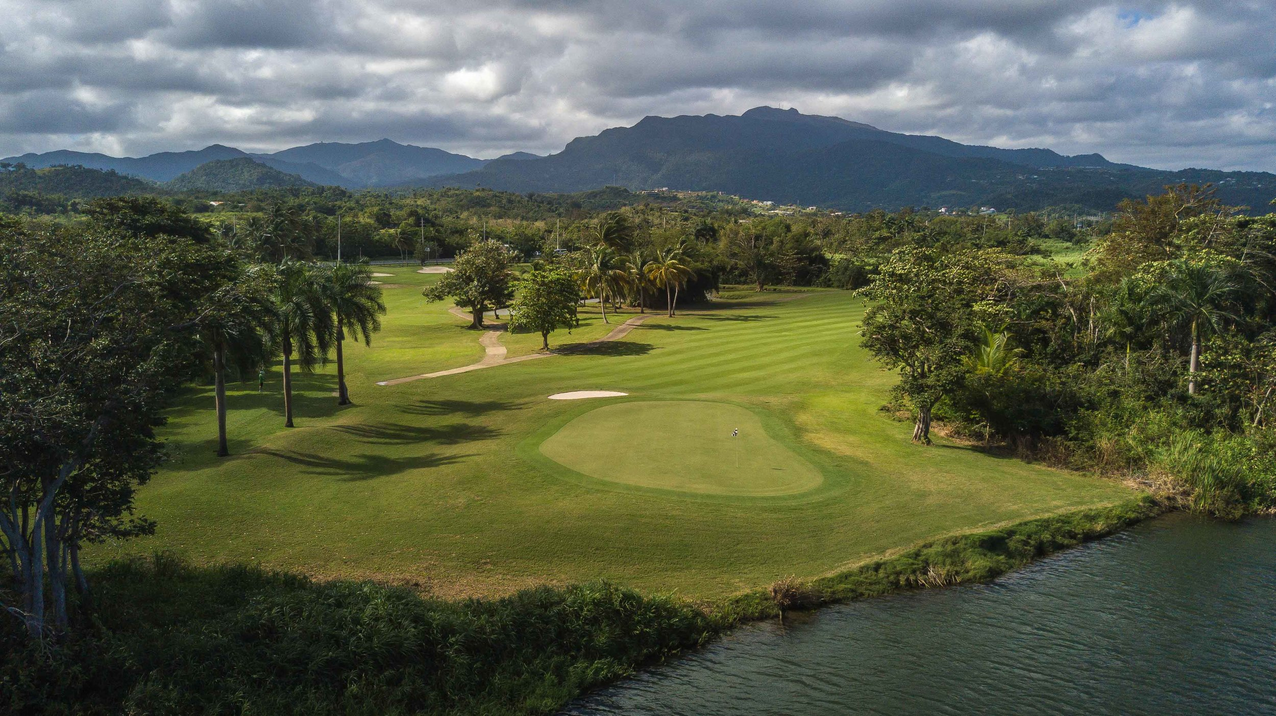 The view from behind the 12th green at Rio Mar's River course.
