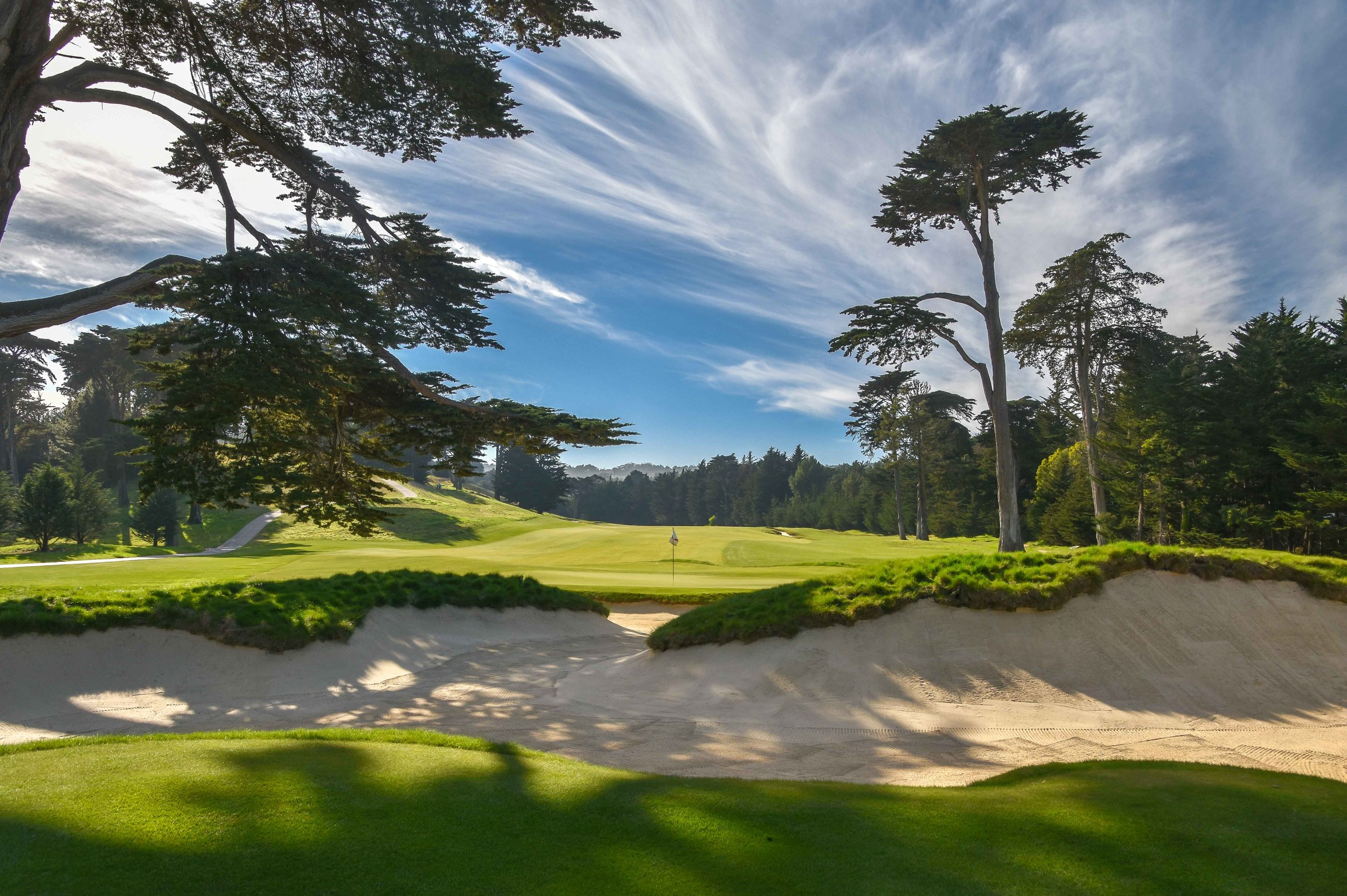 The 3rd hole at Cal Club in South San Francisco