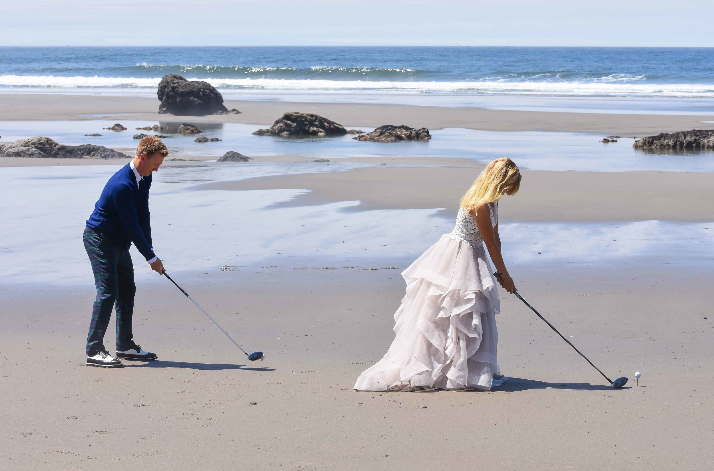 Jimmy and Kenzie decided to drive one into the Pacific to finalize their wedding vows to each other.
