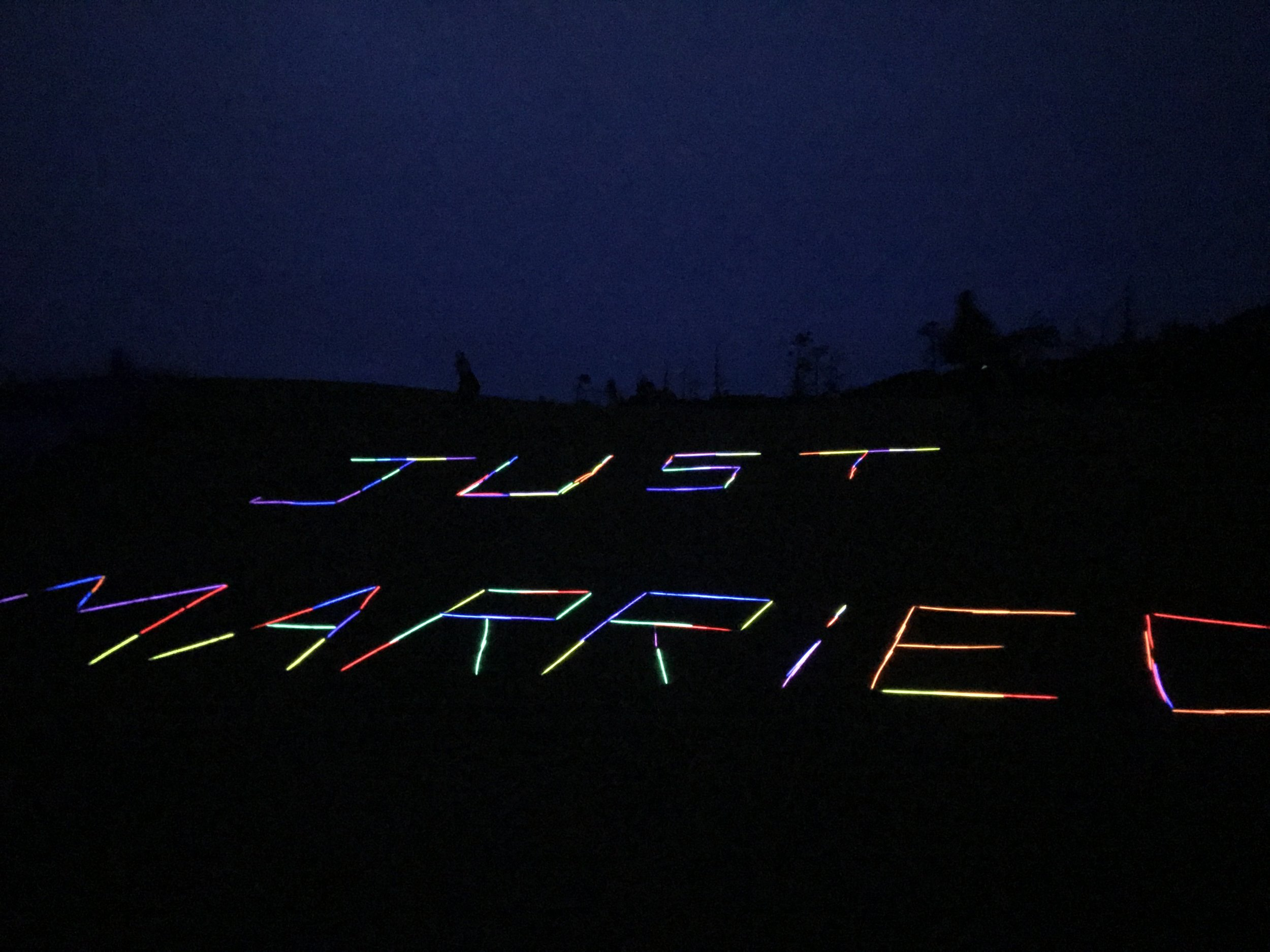 The staff even left a special glow in the dark message for Jimmy and Kenzie.