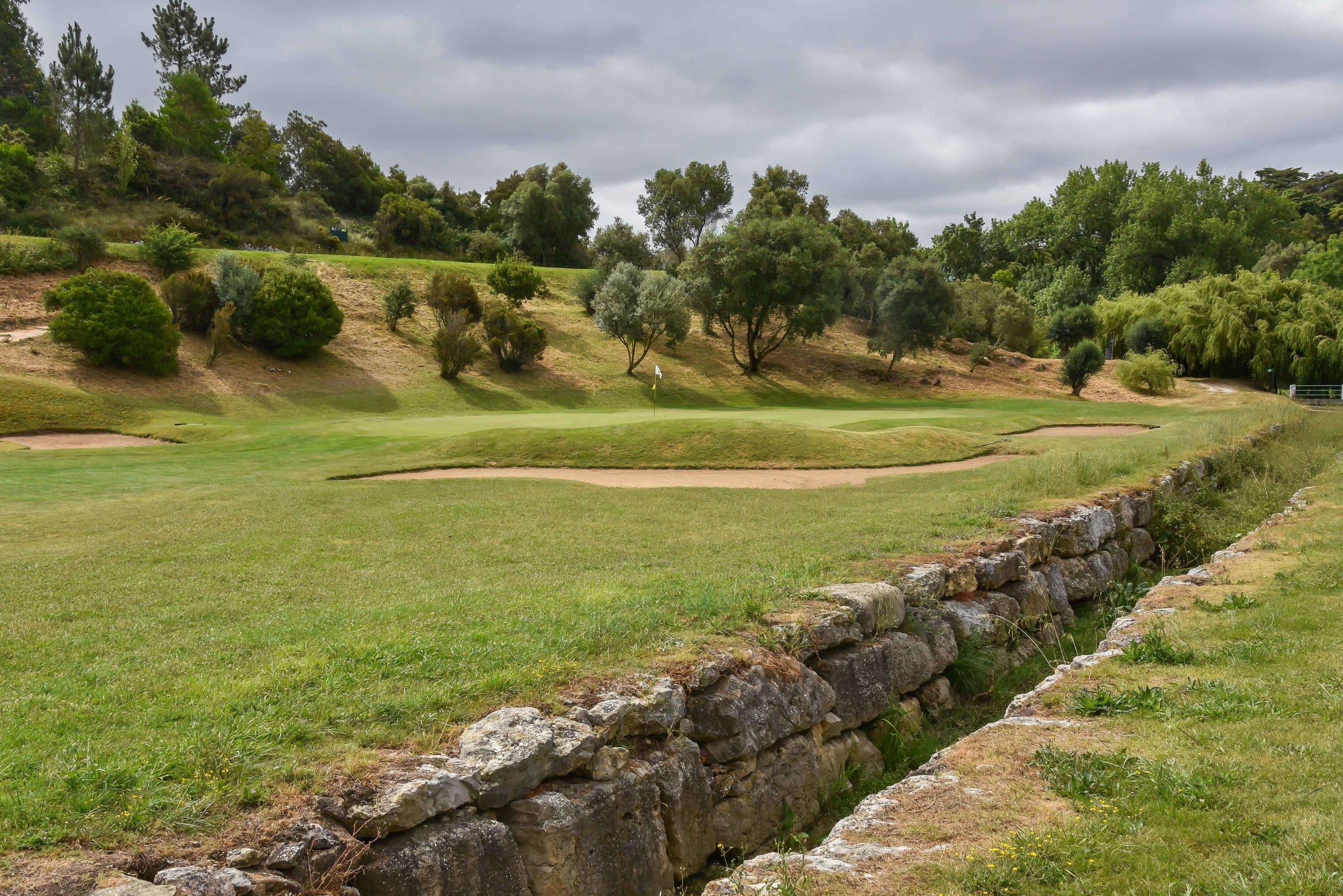 The golf moat at Lisbon Sports Club