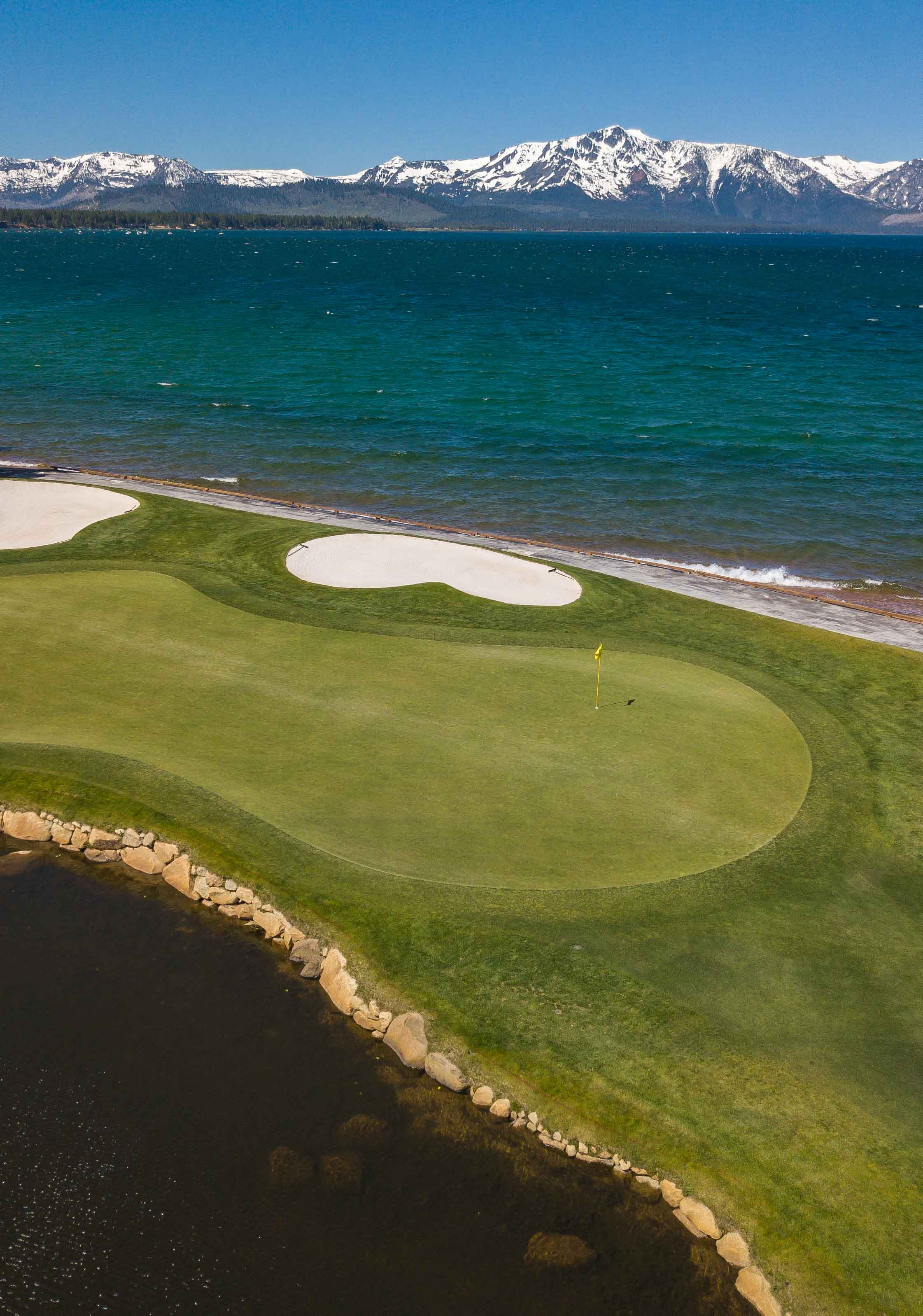 The 18th hole at Edgewood is one of the best finishers in Tahoe.