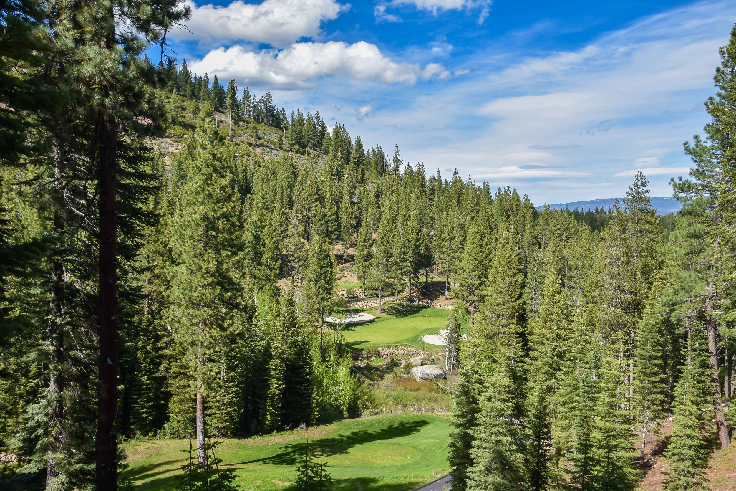 With the elevation and the significantly downhill slope, you could hit 3-4 clubs less on the 13th hole.