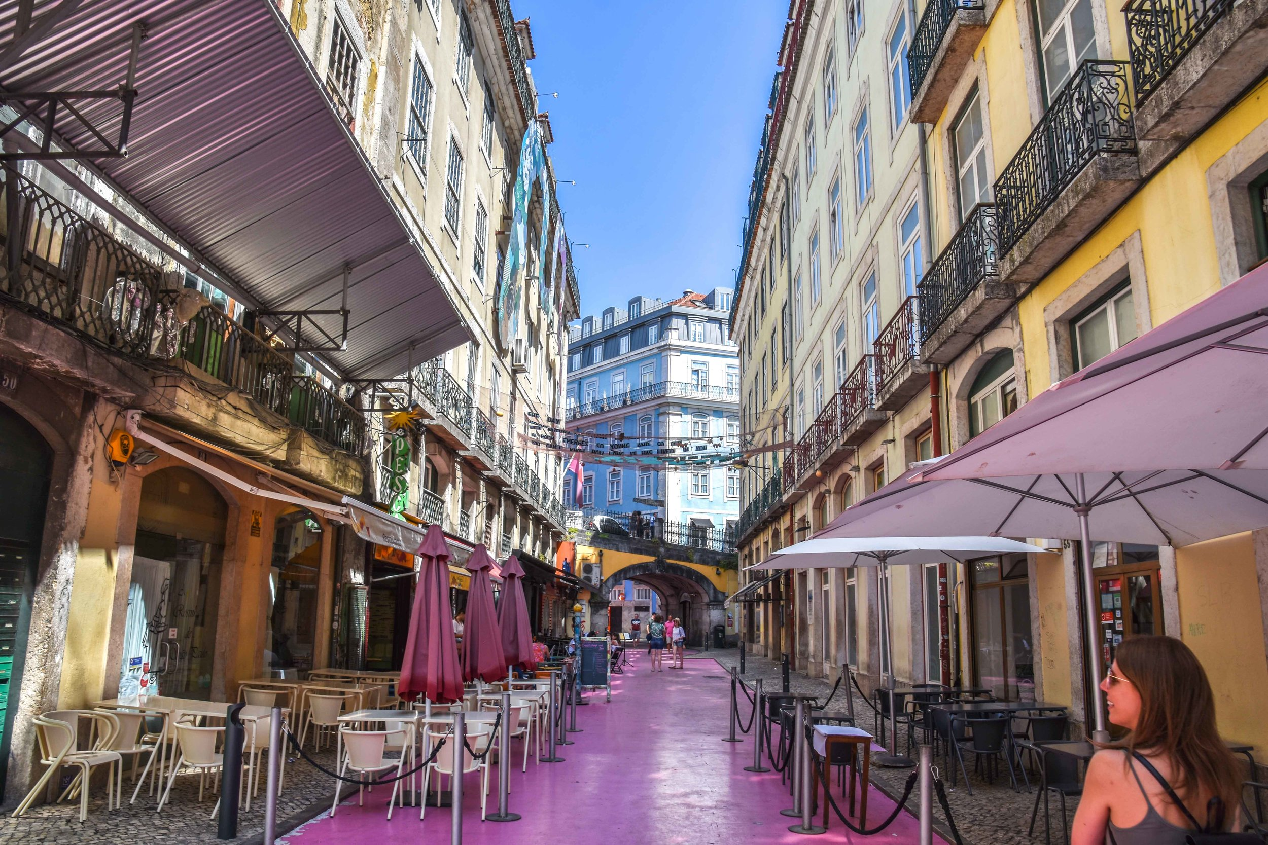 The pink streets of Lisbon.