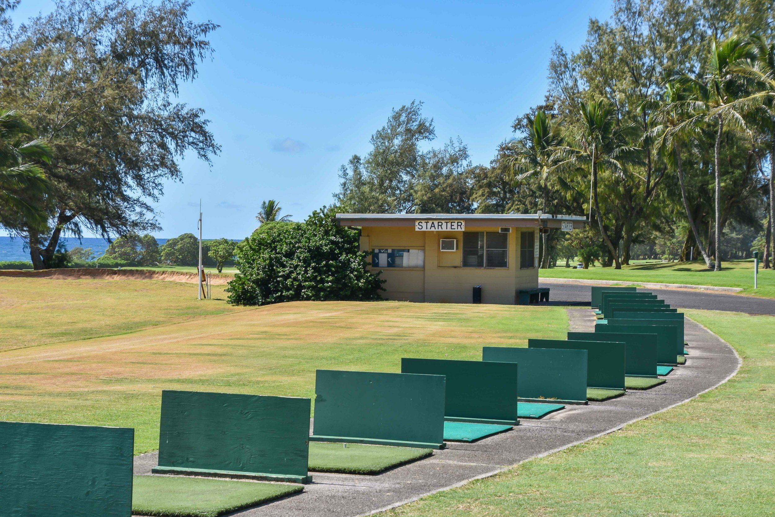 Tha range at Wailua Municipal Golf Course