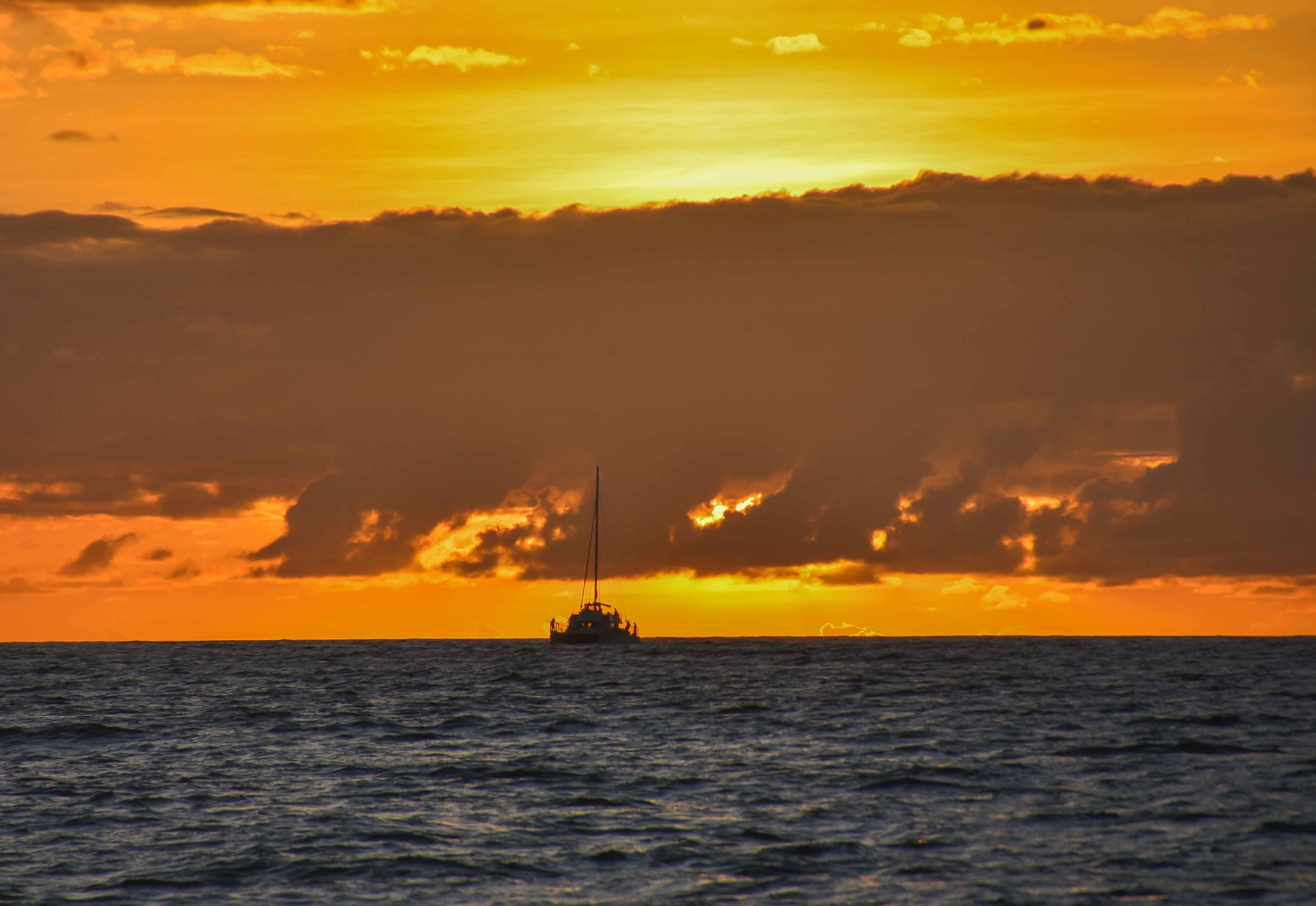 The sunset on the sunset cruise from  Holo-Holo Charters.