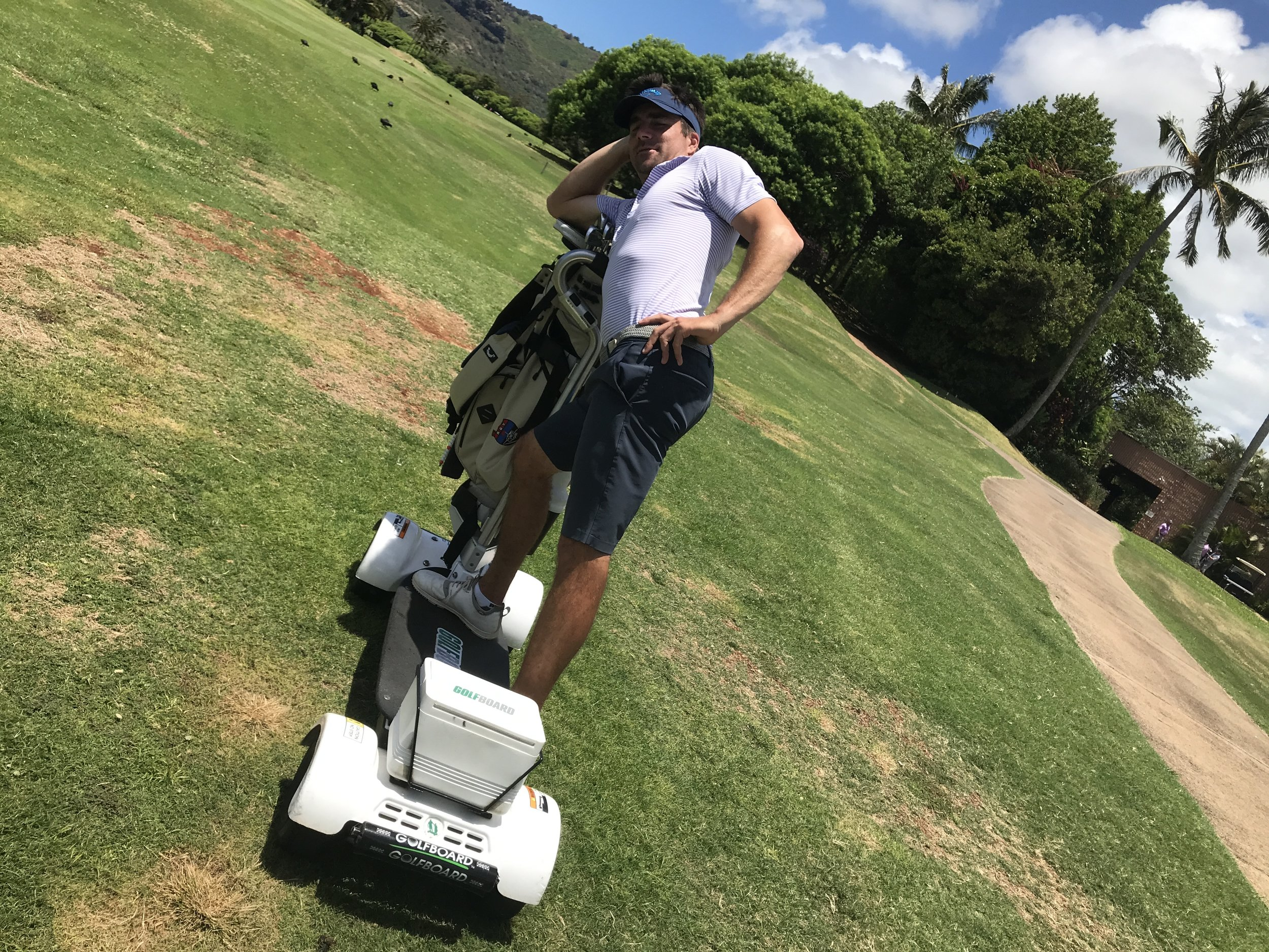 The Ocean Course has  GolfBoards  available for rent. When at Hokuala, be sure to surf The Ocean Course.