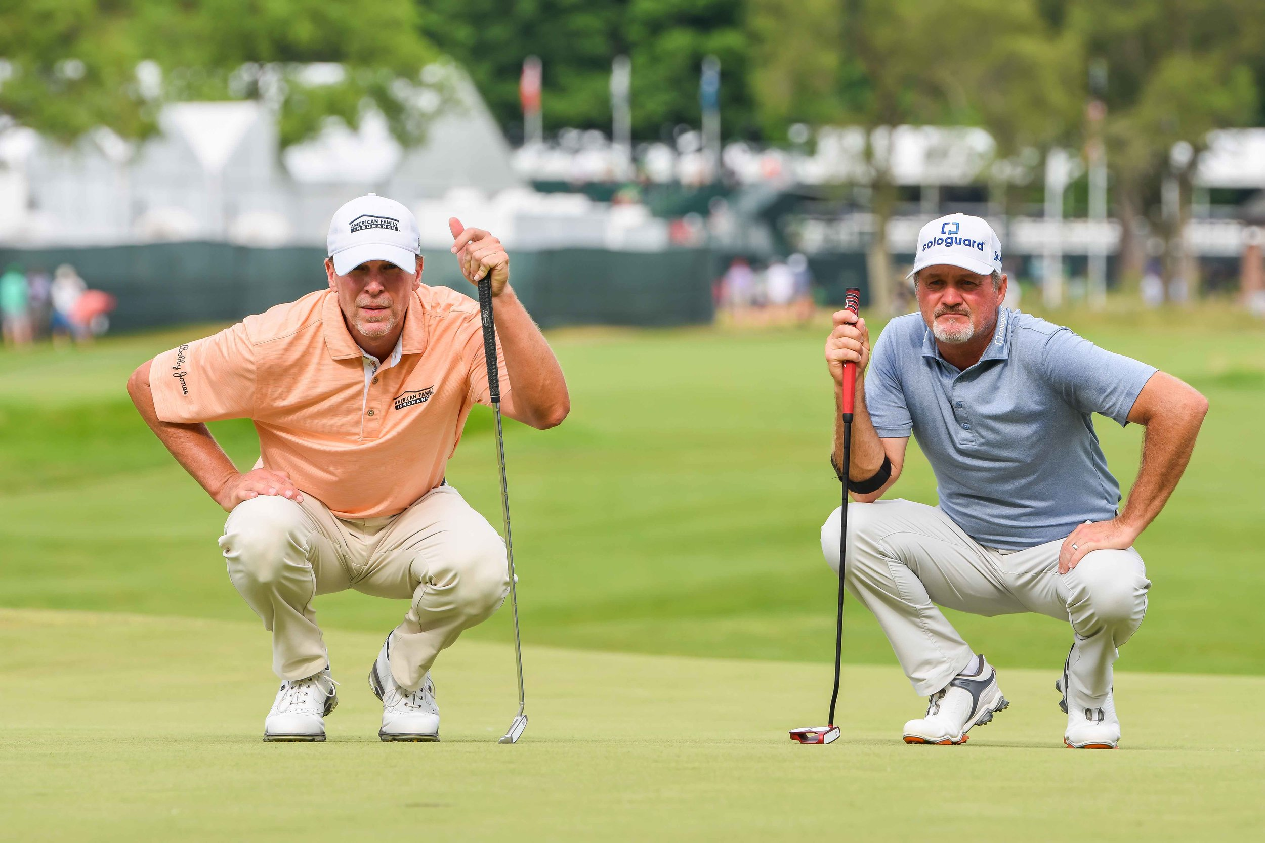 It was barely a two man race with Jerry Kelly trailing Stricker by at least 5 shots all Sunday.