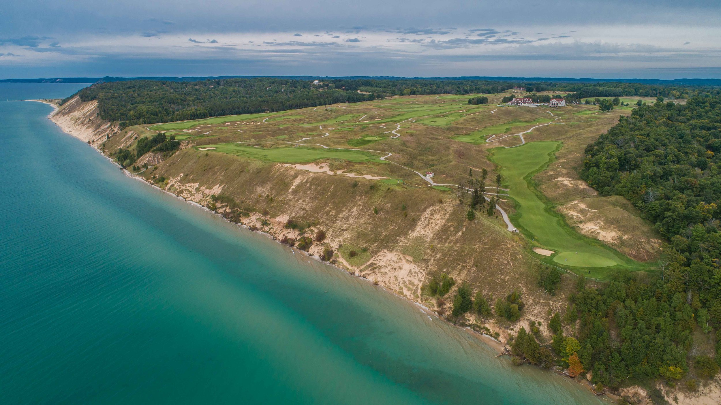 The aptly named Arcadia Bluffs in Michigan.