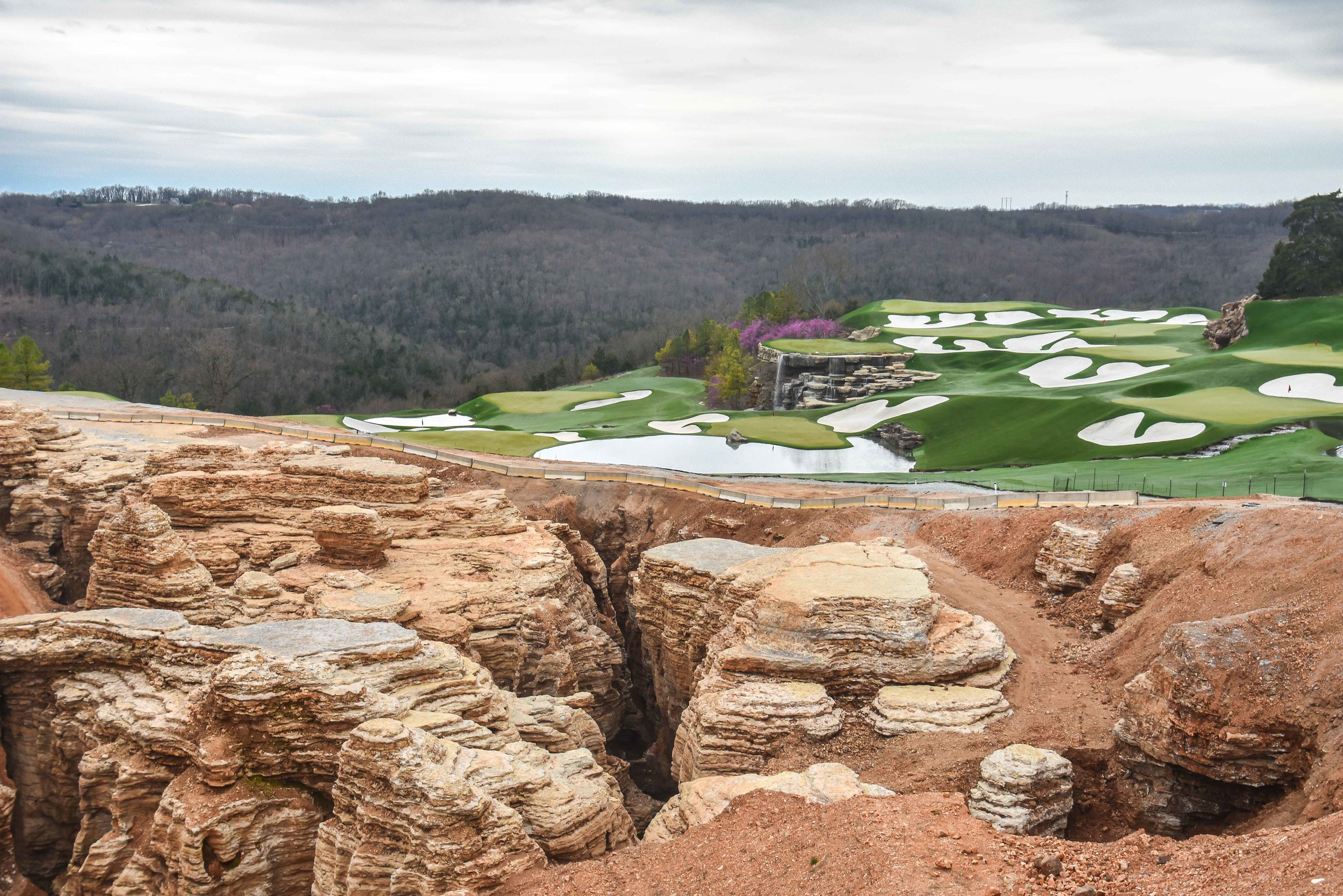 A giant sinkhole has been excavated in front of the range at The Top of The Rock.
