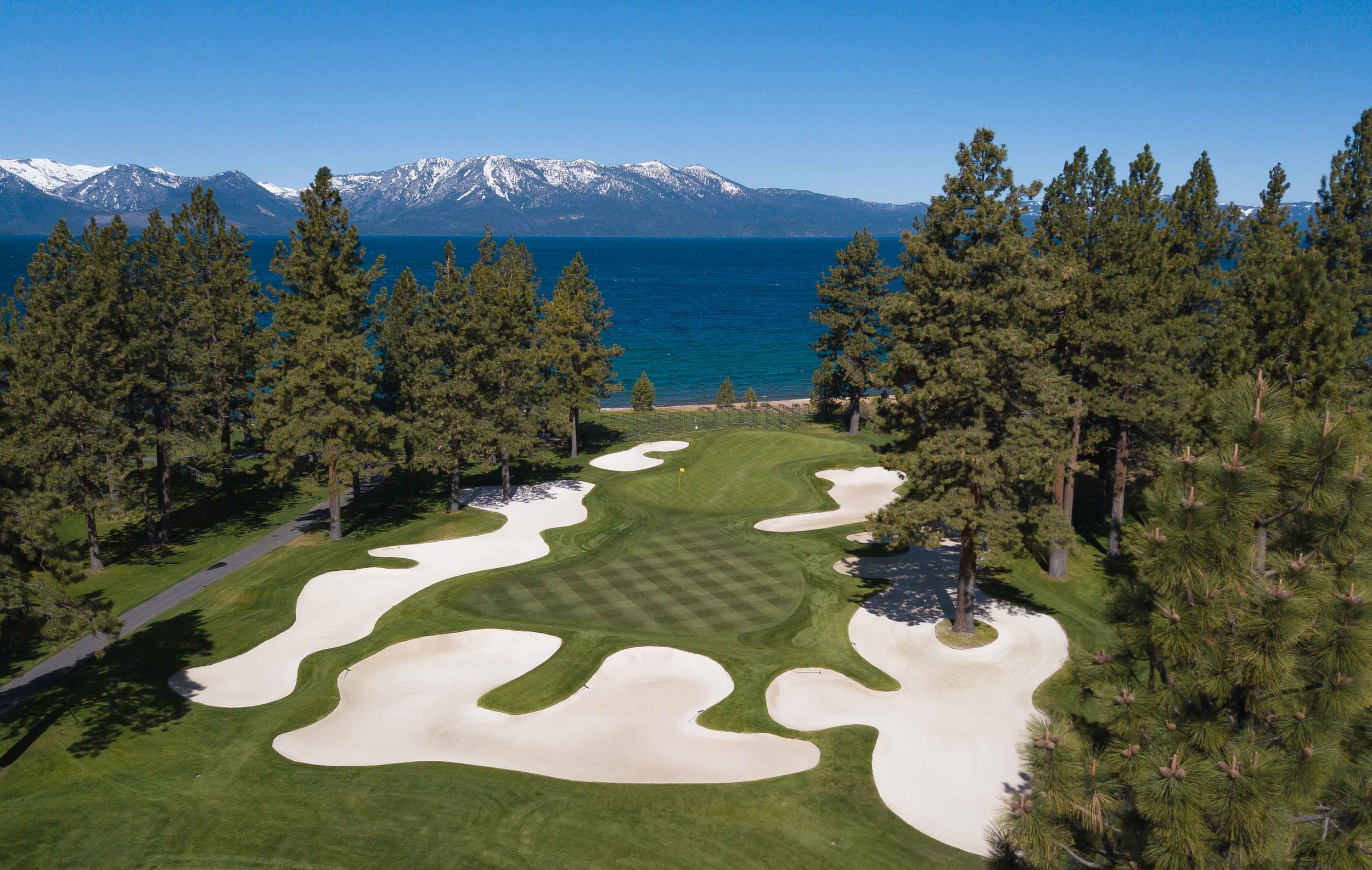 The 16th hole at Edgewood Tahoe
