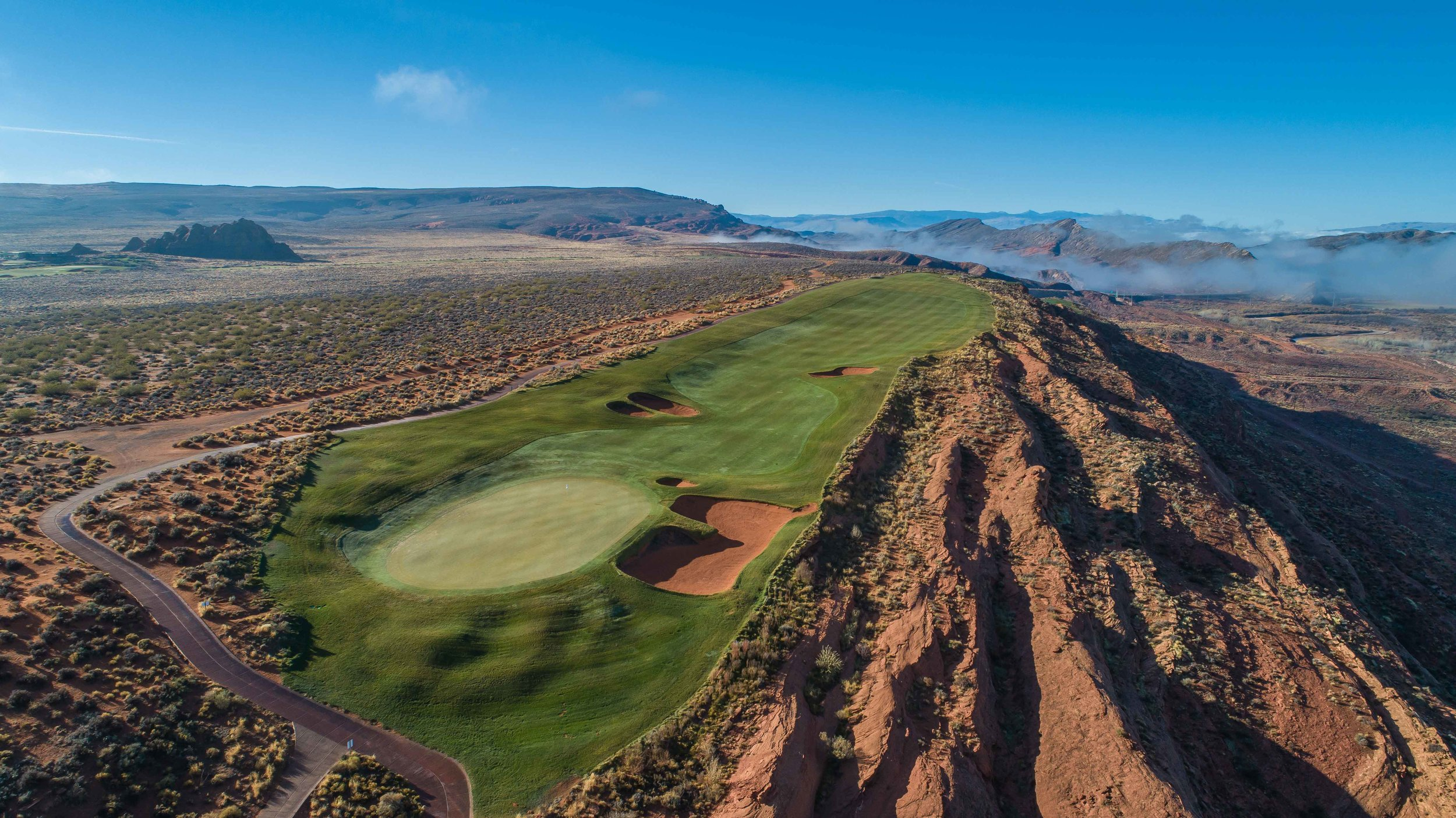 The 14th hole at Sand Hollow