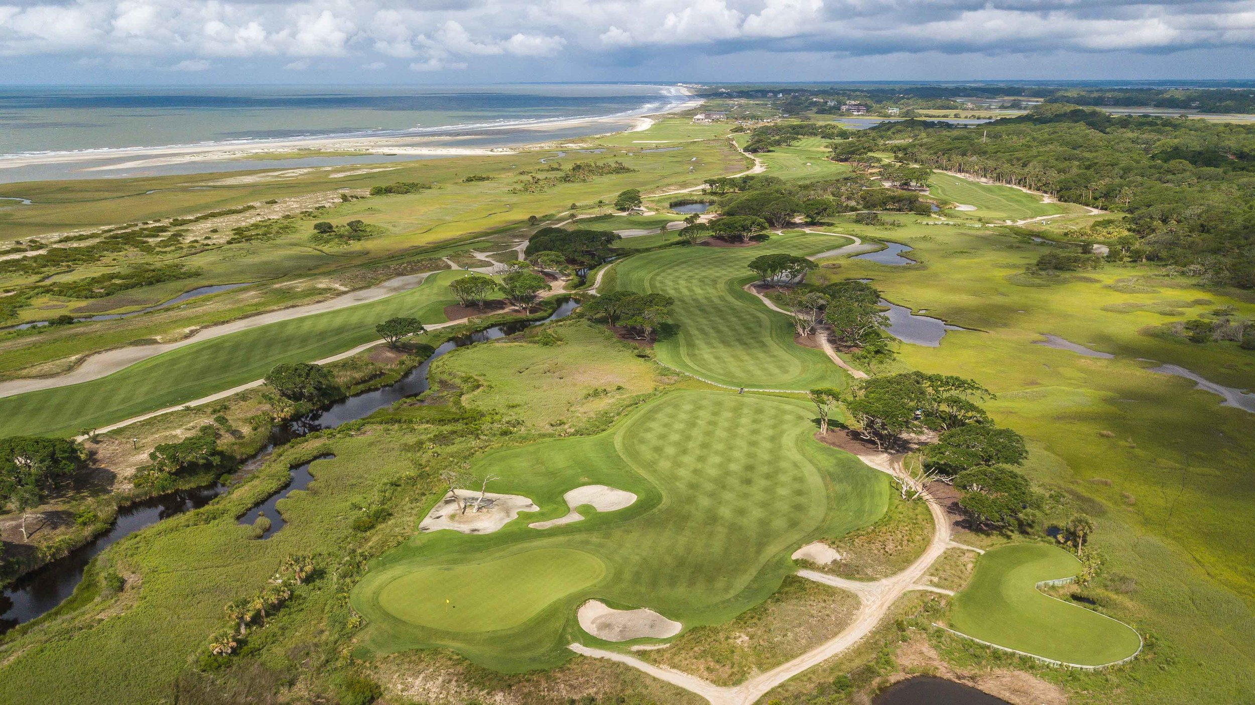 The front nine of the Ocean Course at Kiawah Island.
