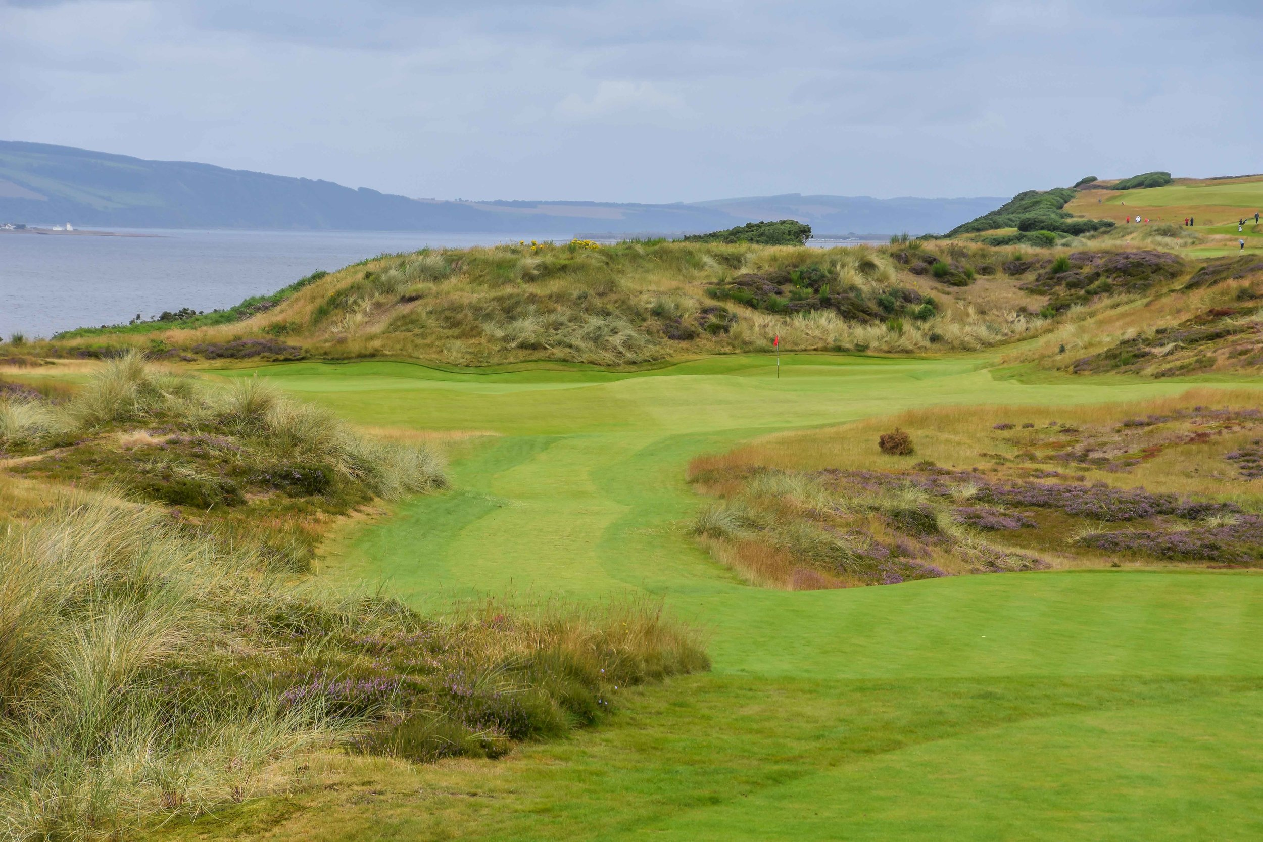 The par 3 8th hole at Castle Stuart