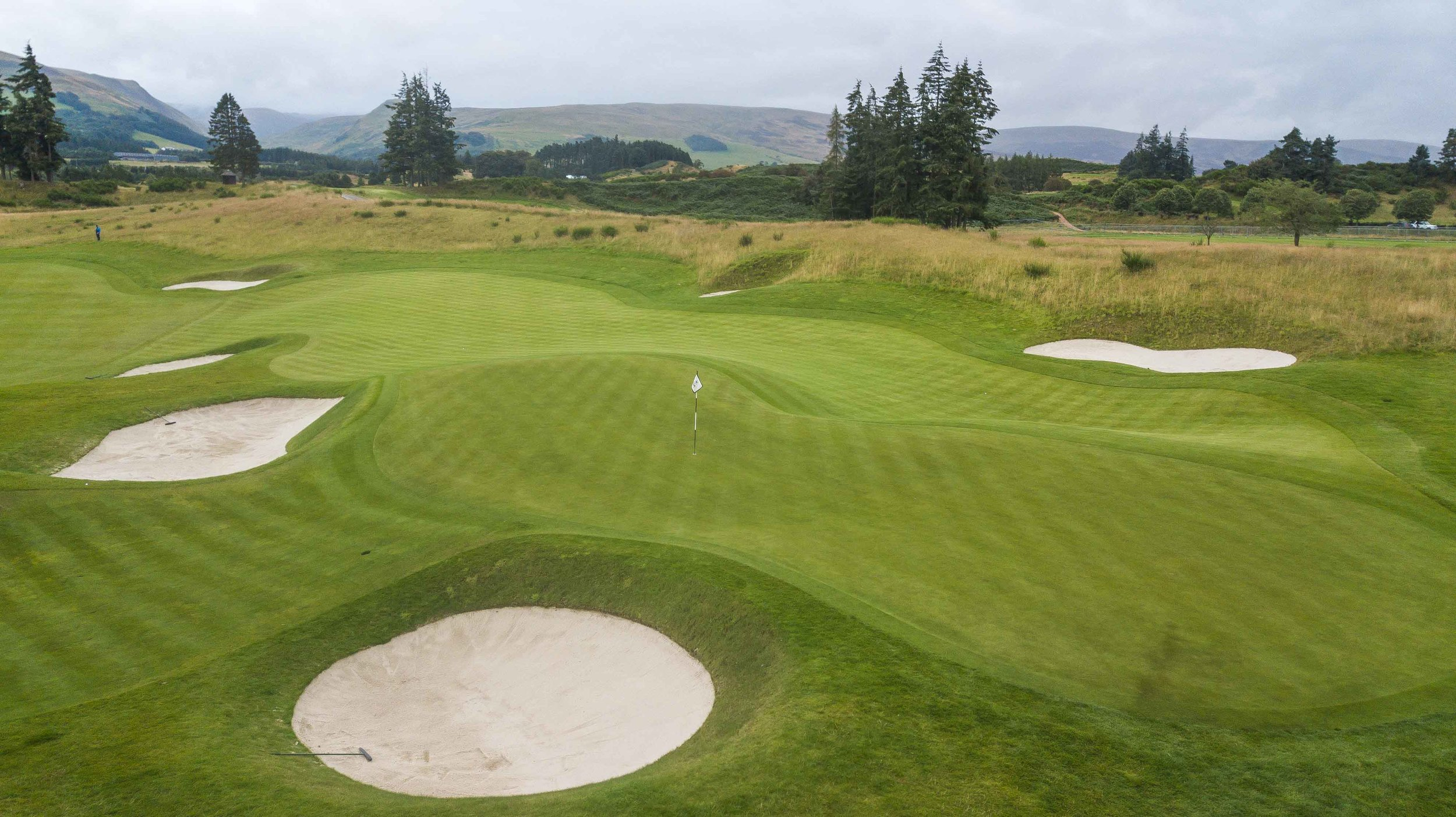 The final hole of Scottish golf was Gleneagles 18th hole.