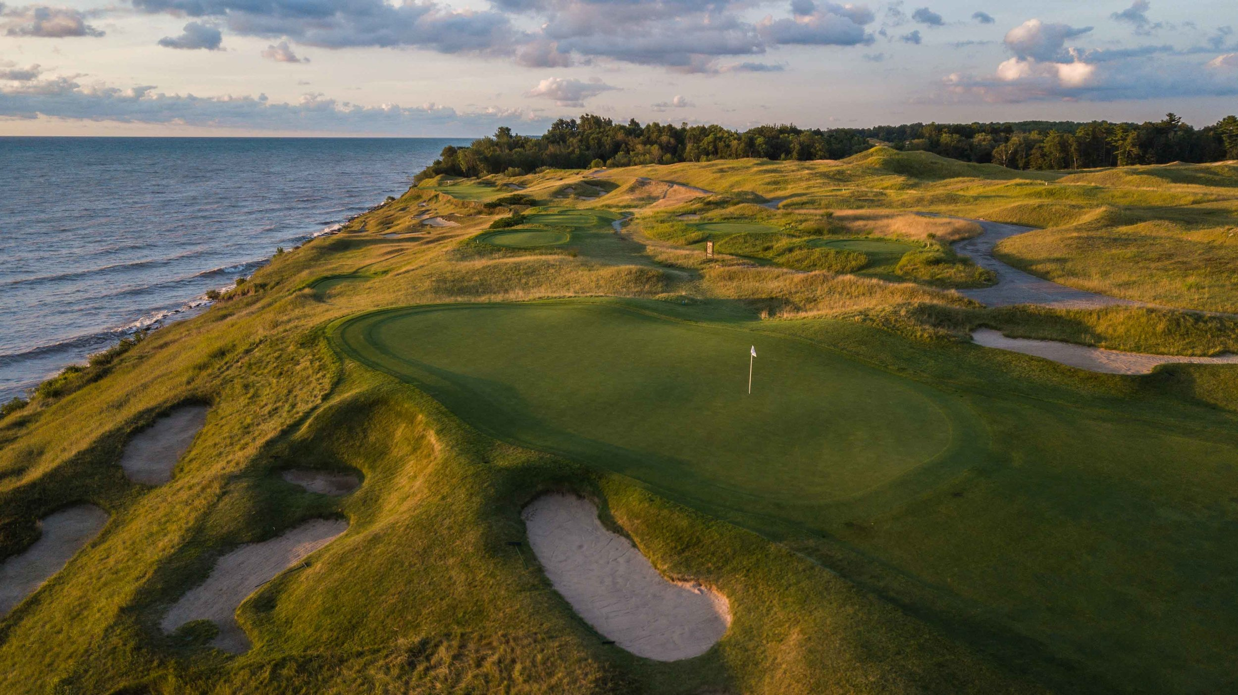 Like many holes at Whistling Straits, the wind will play a big part in deciding if you will walk off of the 2nd green with a birdie or an early blemish on the scorecard.
