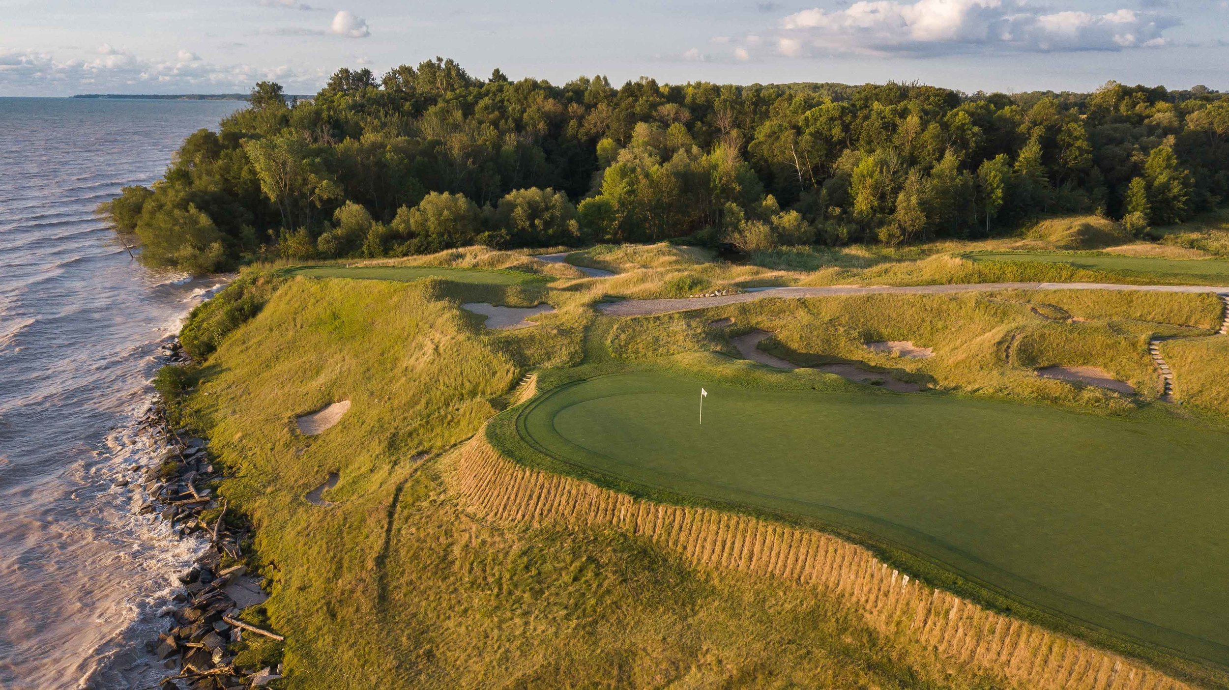 When the 17th hole plays into the wind, it is easily one of the most difficult holes on the golf course.