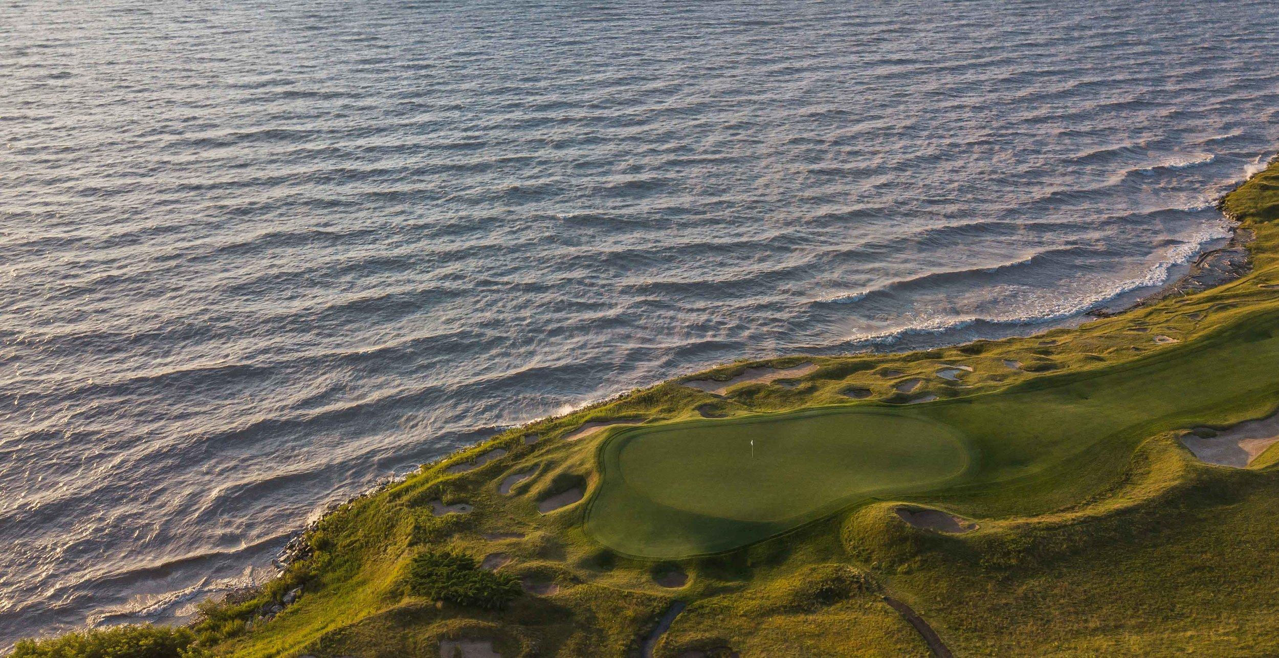 The 8th hole at Whistling Straits