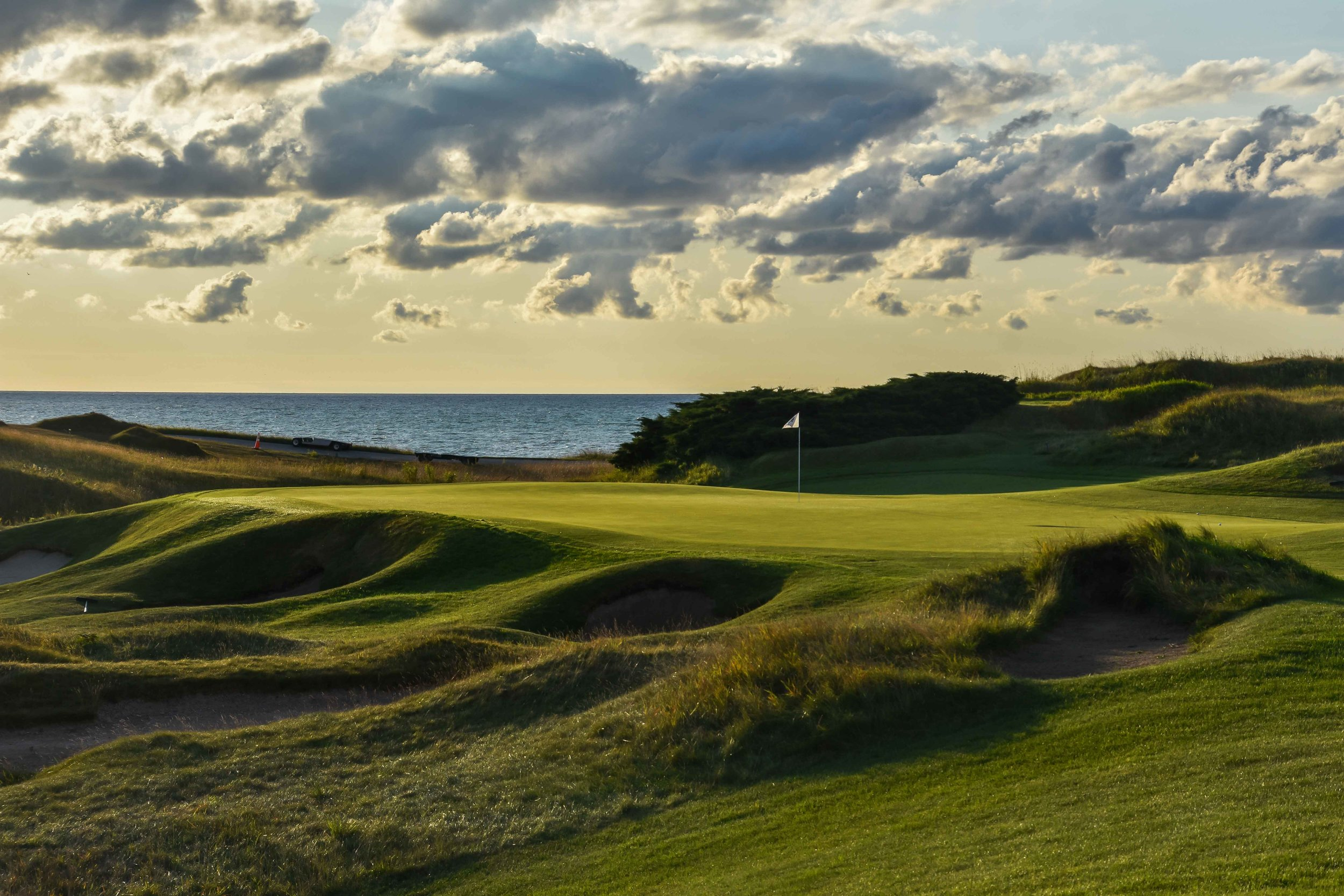 The first hole at Whistling Straits is one of my favorites. With so many inspiring holes, this one is often overlooked.