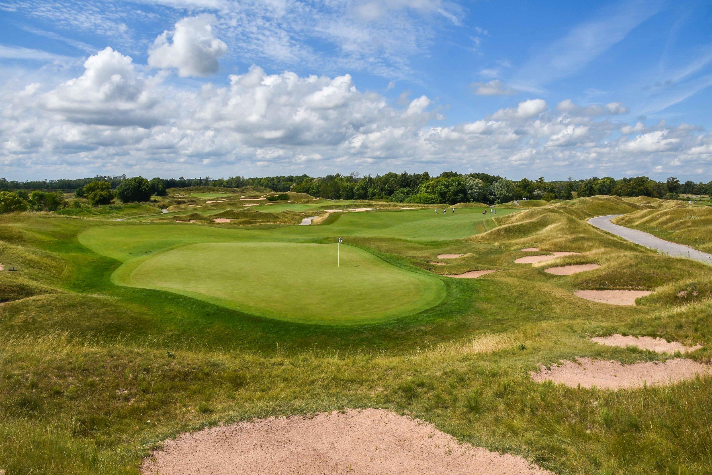 The opening hole on the Irish course.