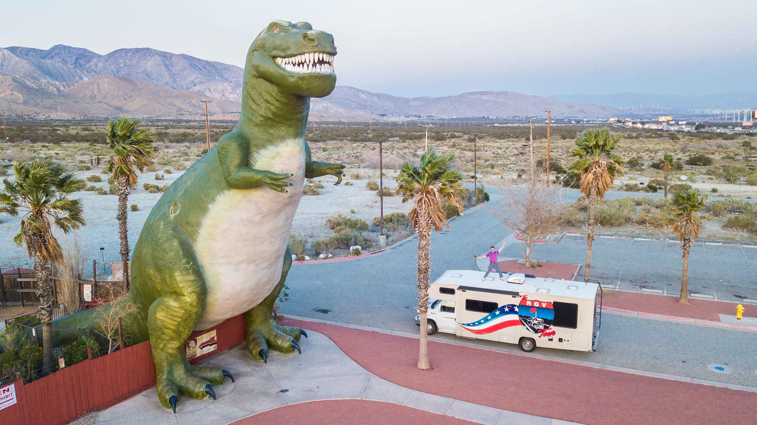 The RGV Tour visits the Cabazon Dinosaurs from Pee Wee's Big Adventure.