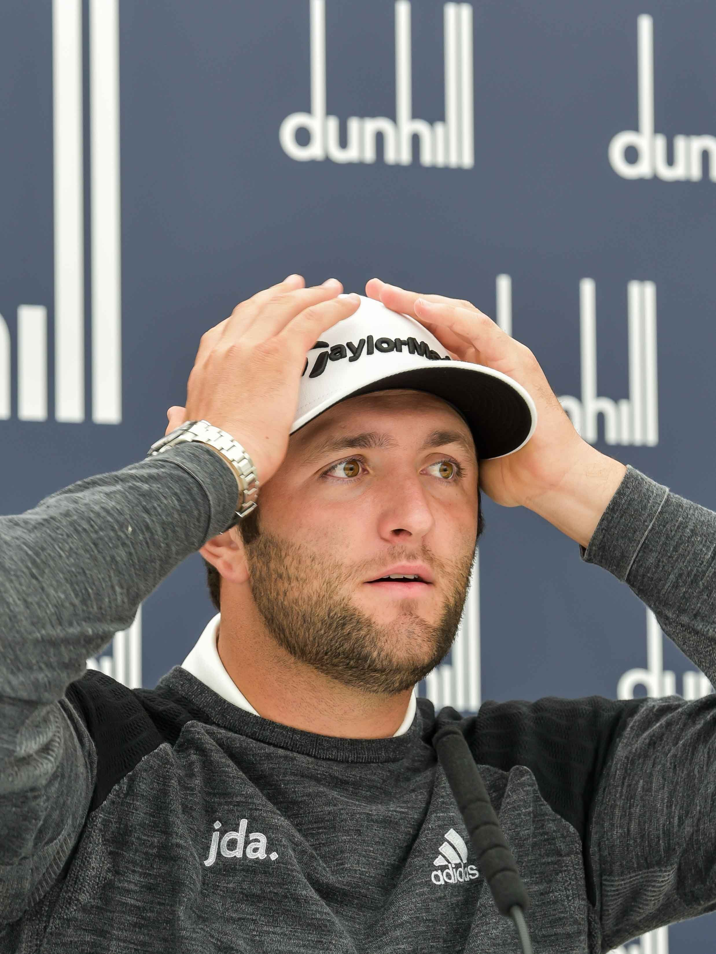 Jon Rahm reacts to the news that Patrick Koenig has been allowed into the media center this week.