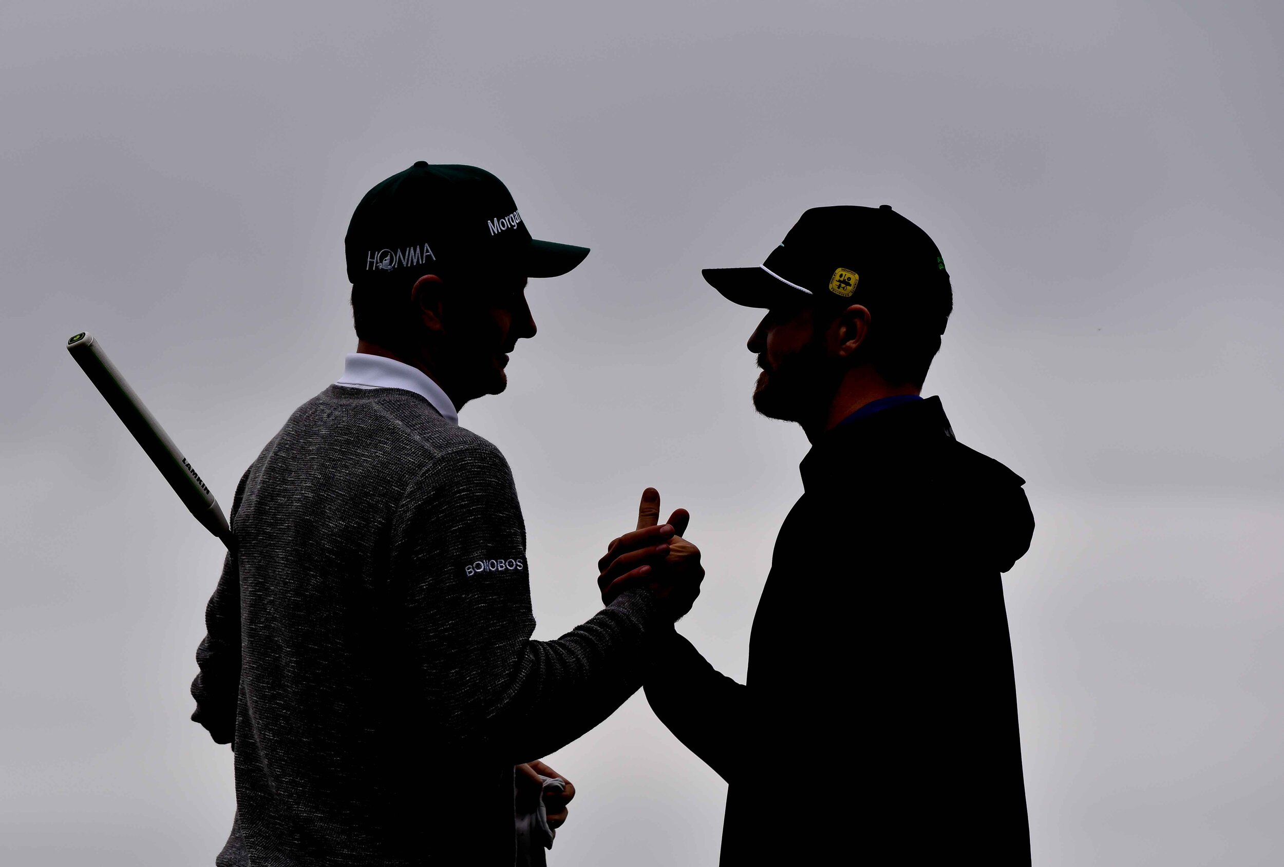 Timberlake made a long par putt on the 11th hole to pick up partner, Justin Rose..