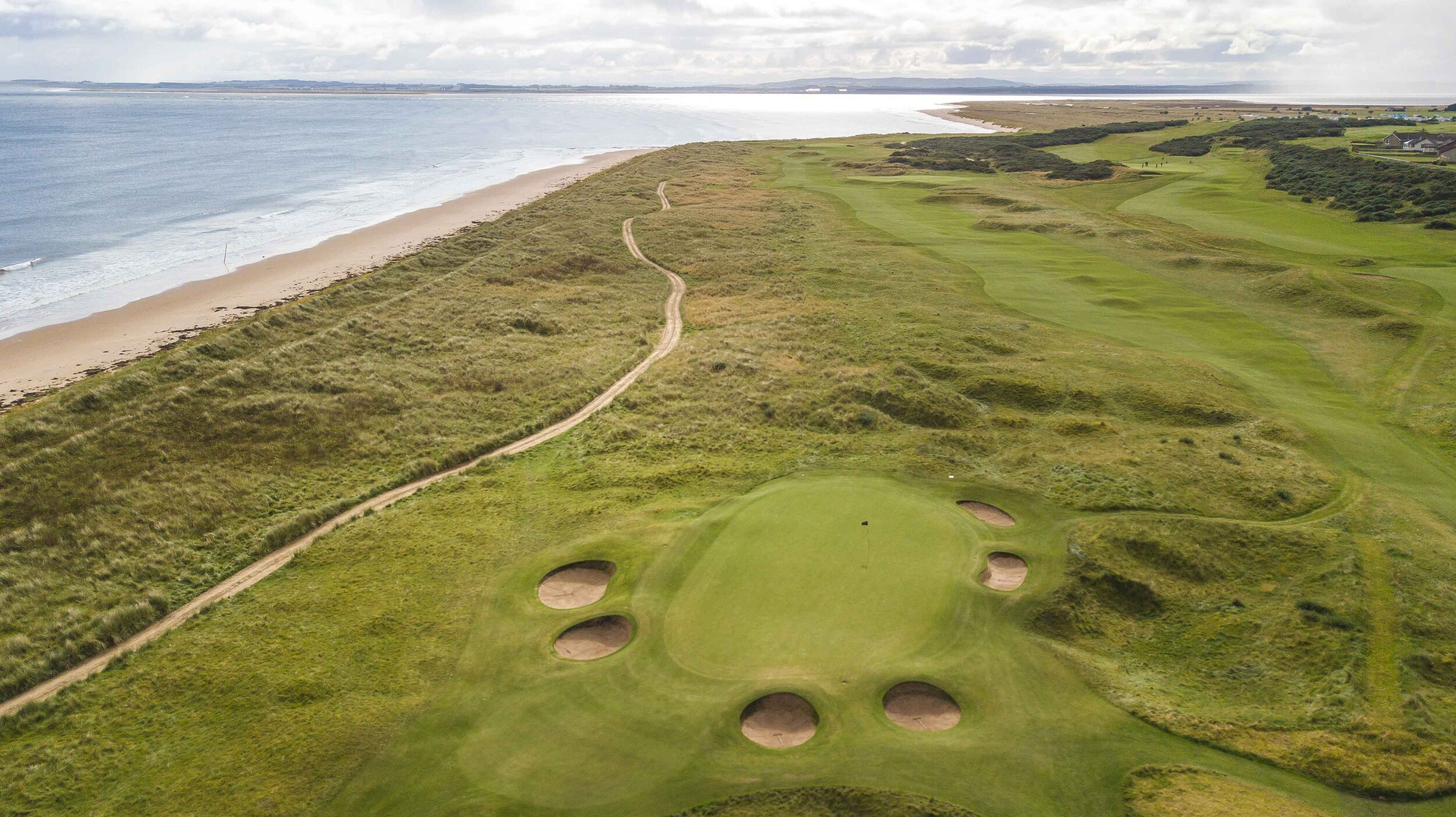 The par 3 13th hole at Royal Dornoch