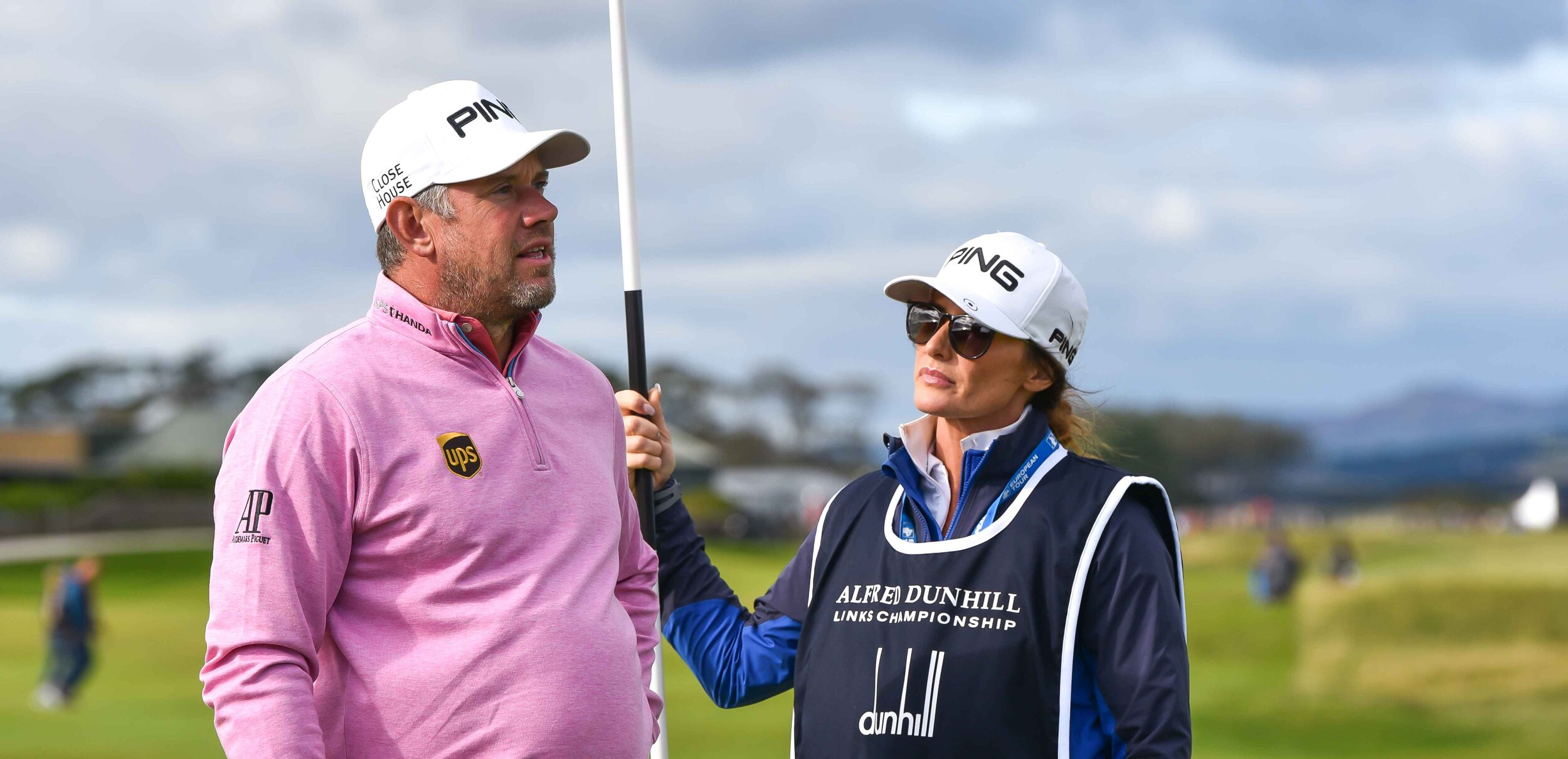 Lee Westwood and his caddie/girlfriend Helen Storey.