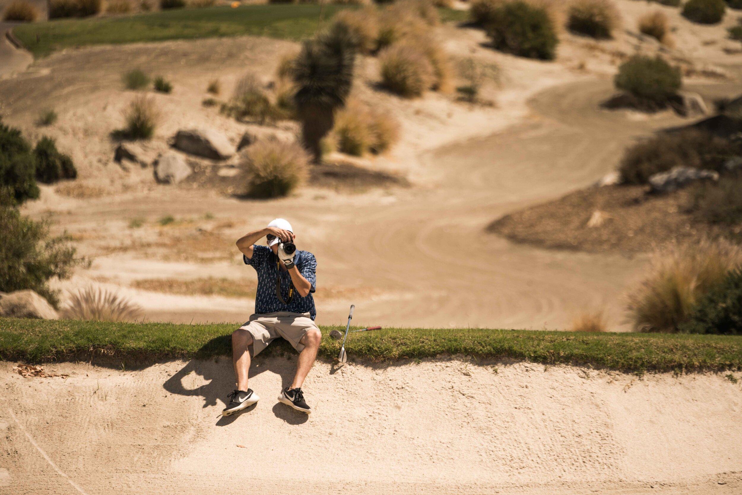 Fernando Rodriguez, AKA  The Desert Golfer  finds the perfect photo perch.