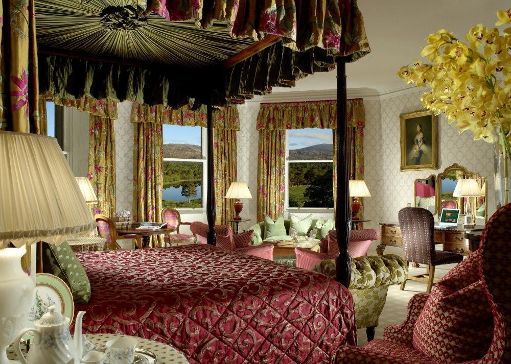 The Queens suite at Inverlochy castle