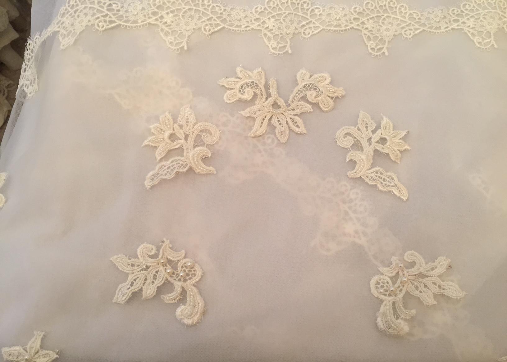 Hand embellished bespoke veils