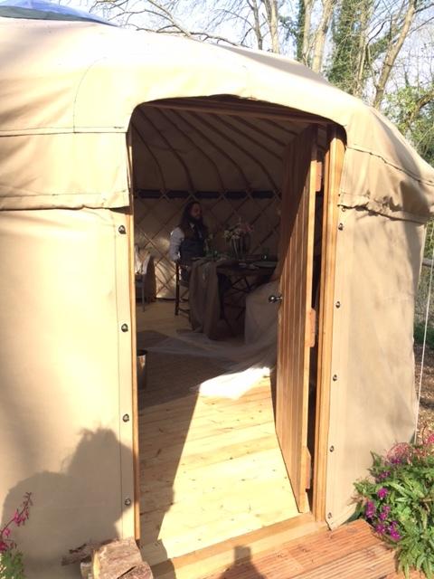 Sneak peek of Jack & Tor inside the Yurt.