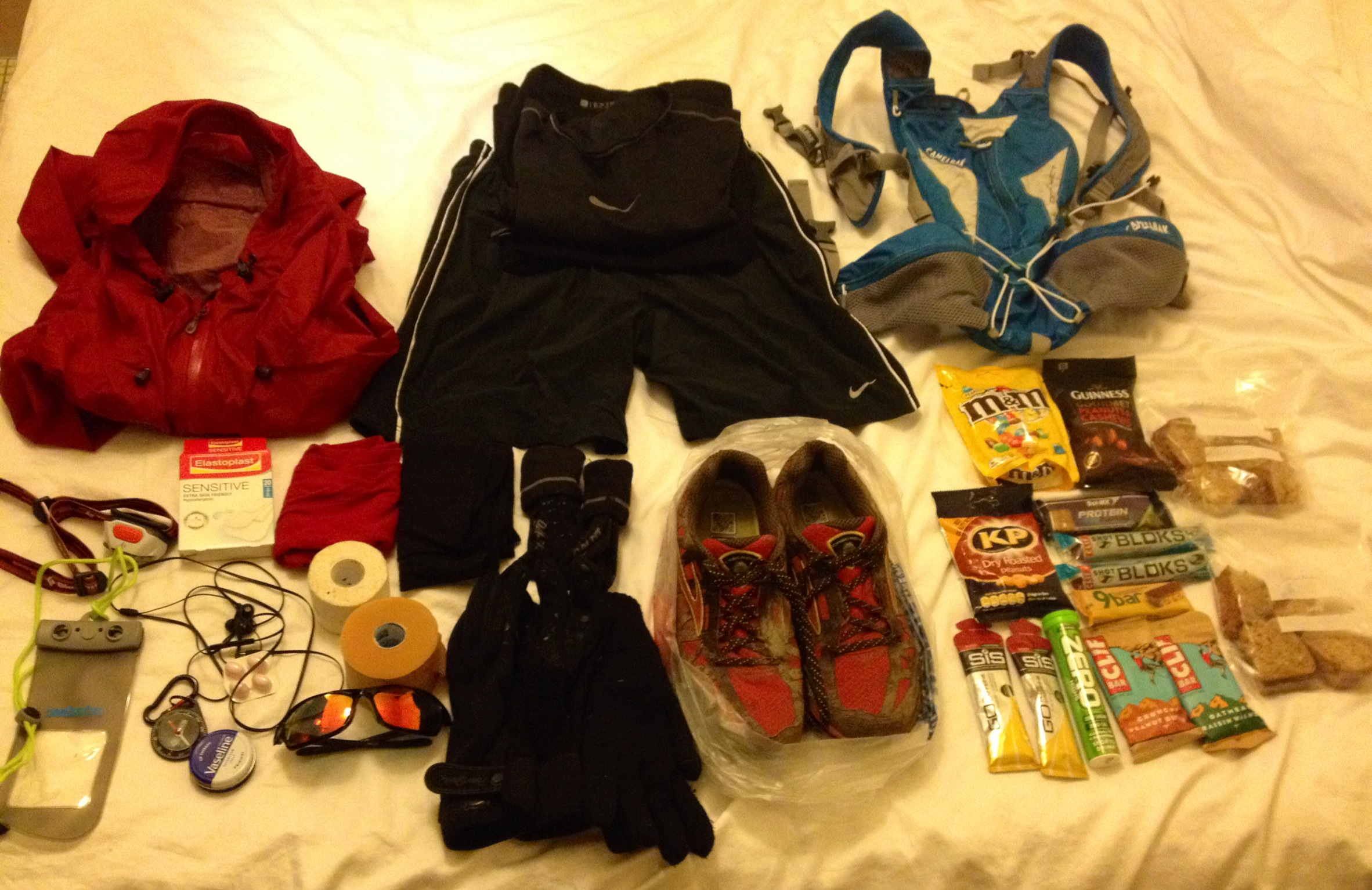 Laying out the kit on your bed and posting a photo of it to social media sites is a legal requirement for all ultra runners
