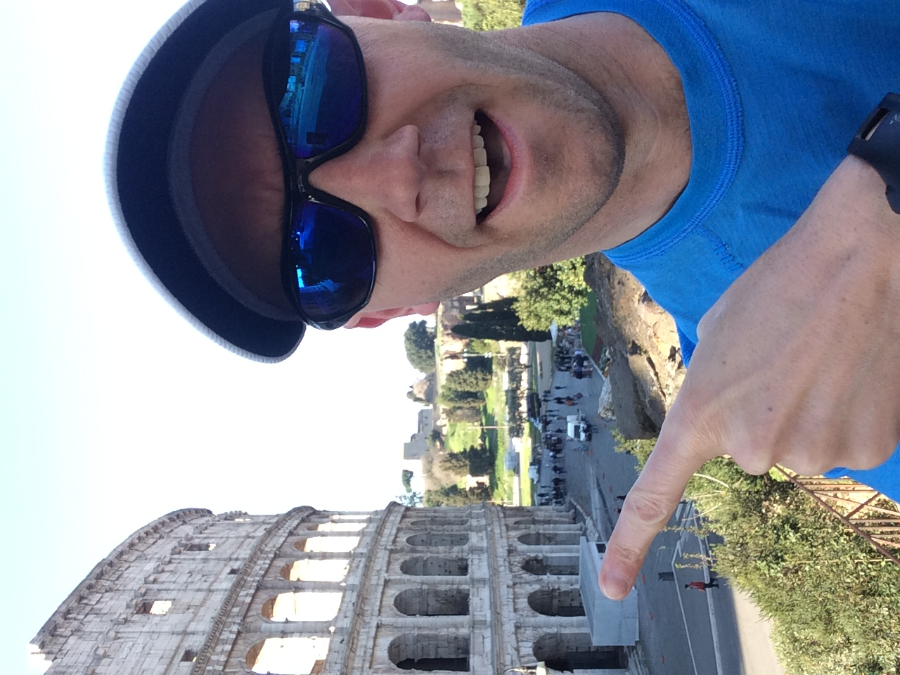 An old ruin in Rome. And the Colosseum.